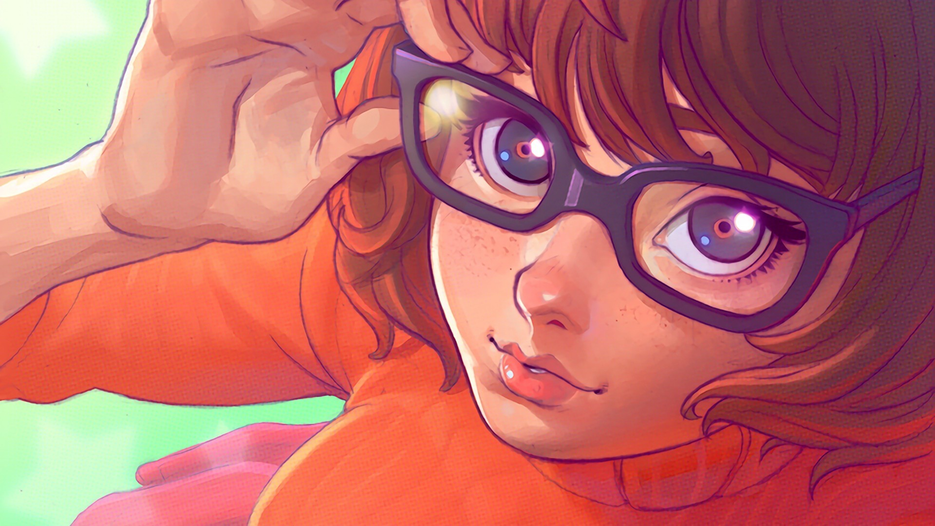 1920x1080 Ilya Kuvshinov, Velma Dinkley, Drawing, Scooby Doo, Glasses Wallpapers HD /  Desktop and Mobile Backgrounds
