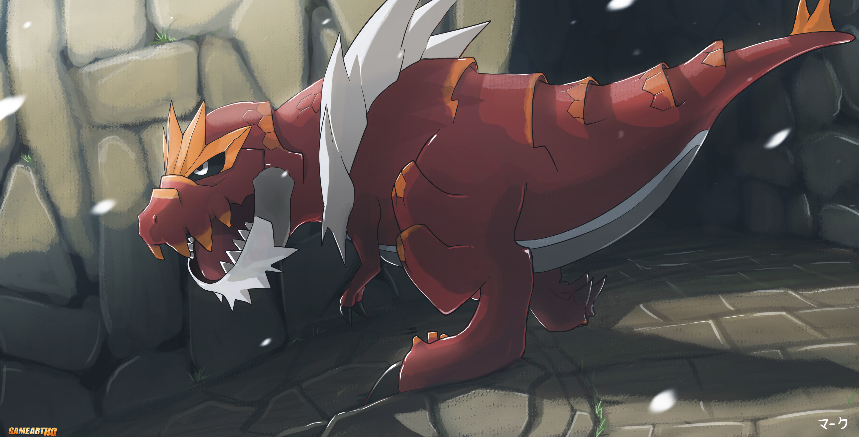 3564x1815 The King is back in Pokemon X & Y and he has a Name: Tyrantrum!