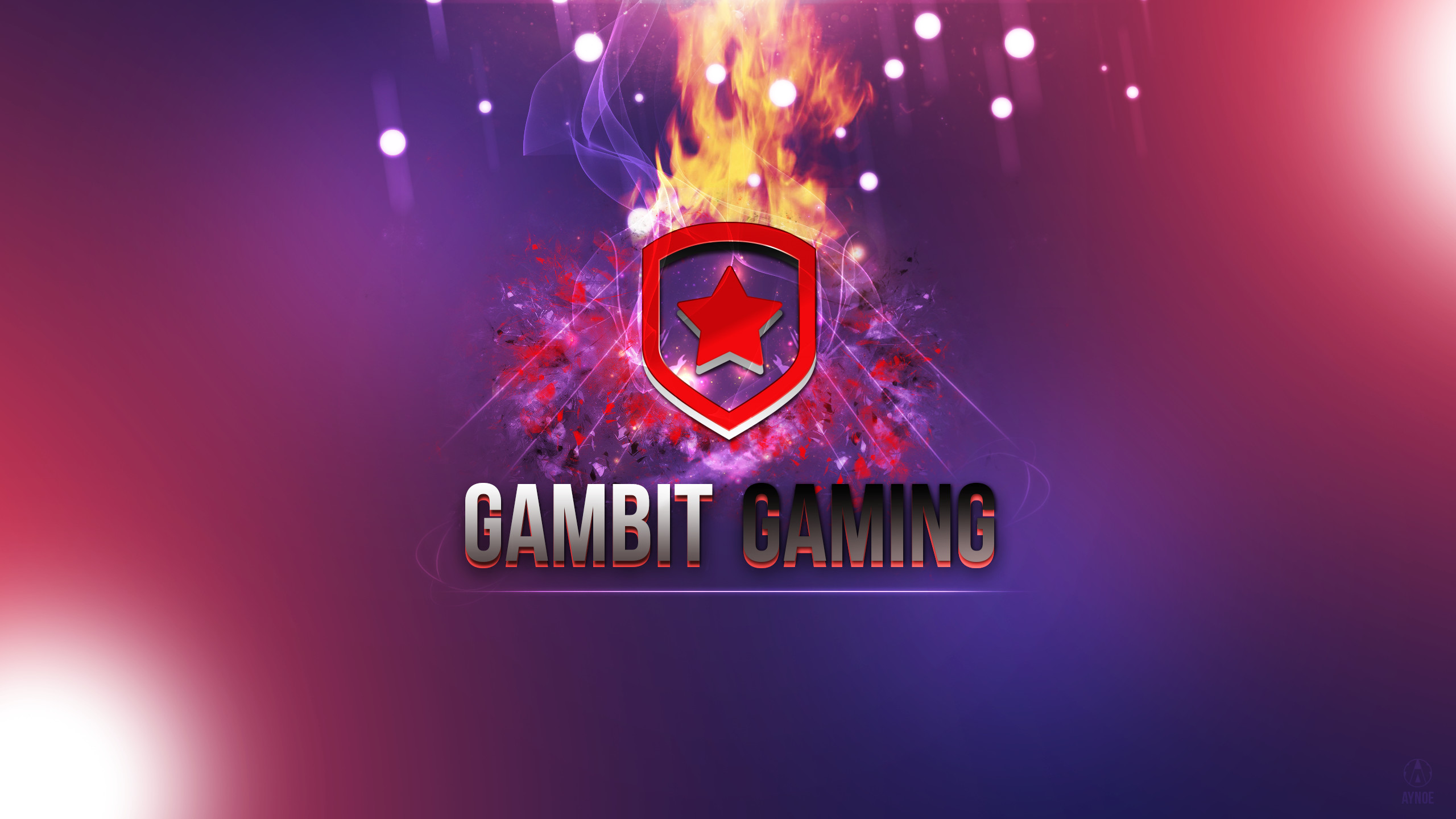 2560x1440 ... Gambit Gaming 2 Wallpaper Logo - League of Legends by Aynoe