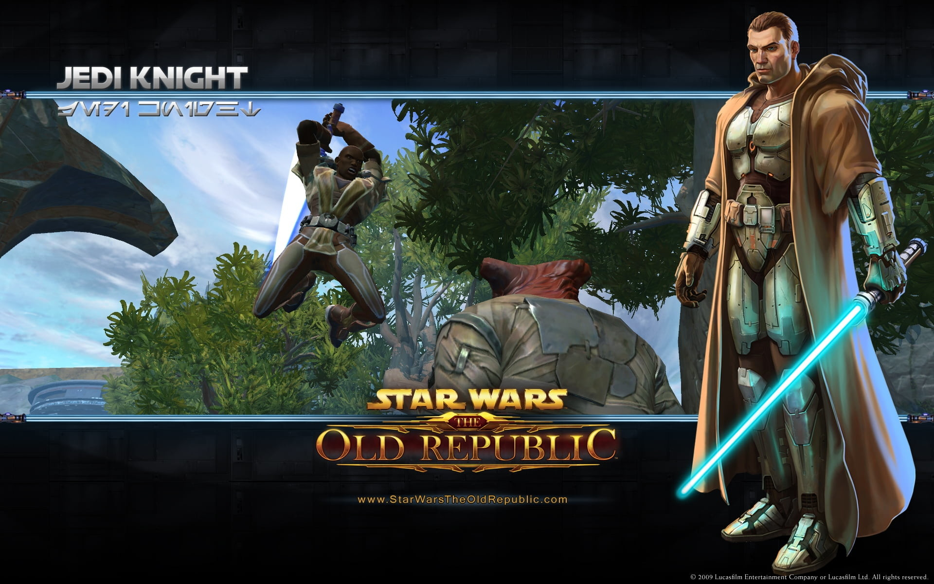 1920x1200 Star Wars Old Republic Jedi Knight poster HD wallpaper