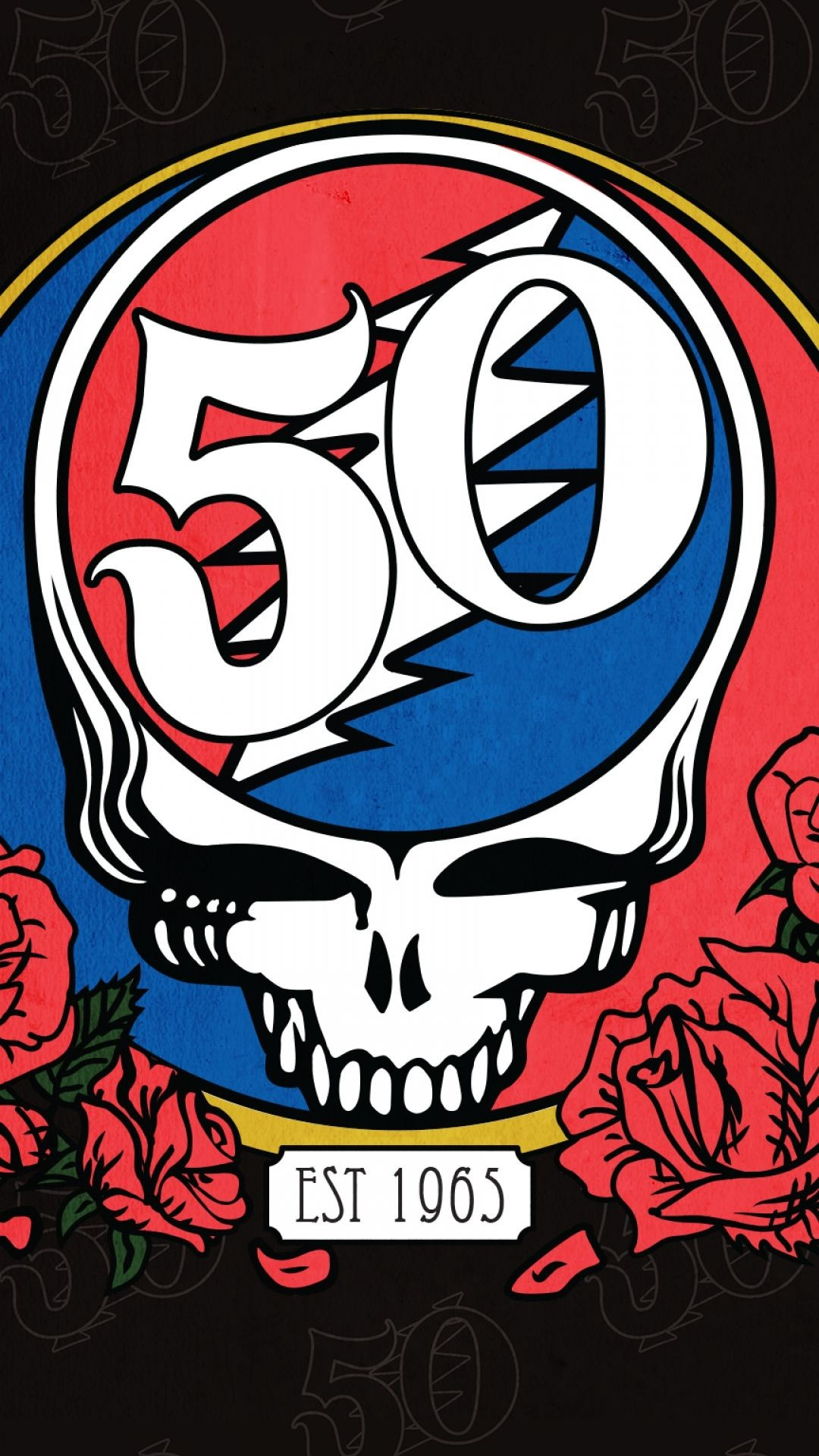 1080x1920 Download Wallpaper  Grateful dead, Santa clara, Skull .