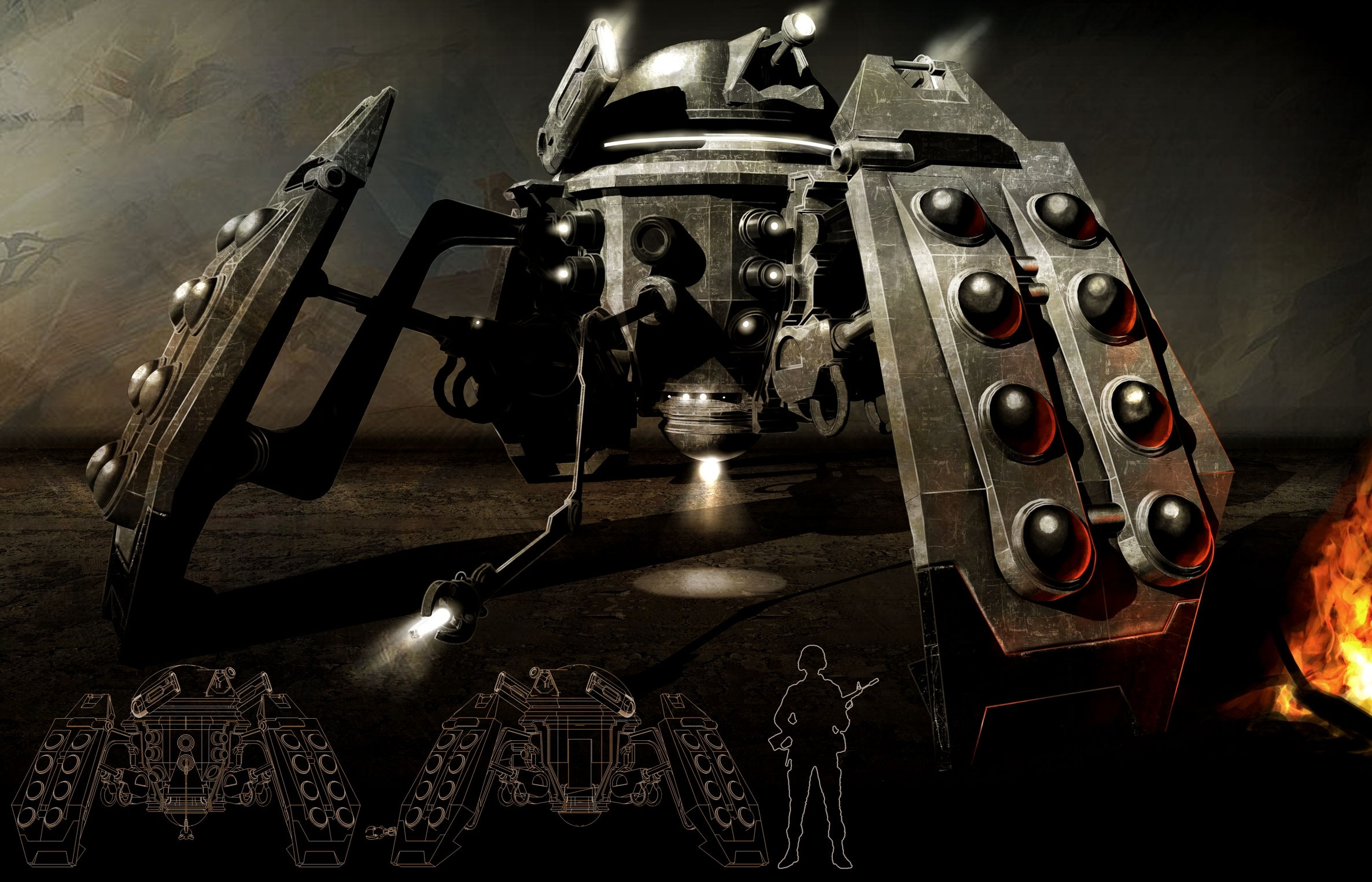 2372x1524 dalek doctor who  wallpaper Art HD Wallpaper