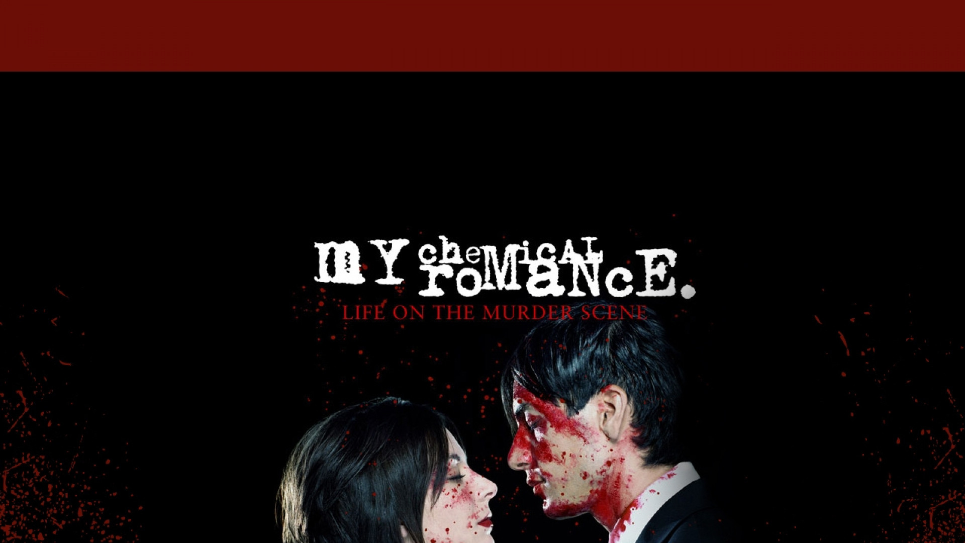 1920x1080 Preview wallpaper my chemical romance, cover, blood, sign, couple