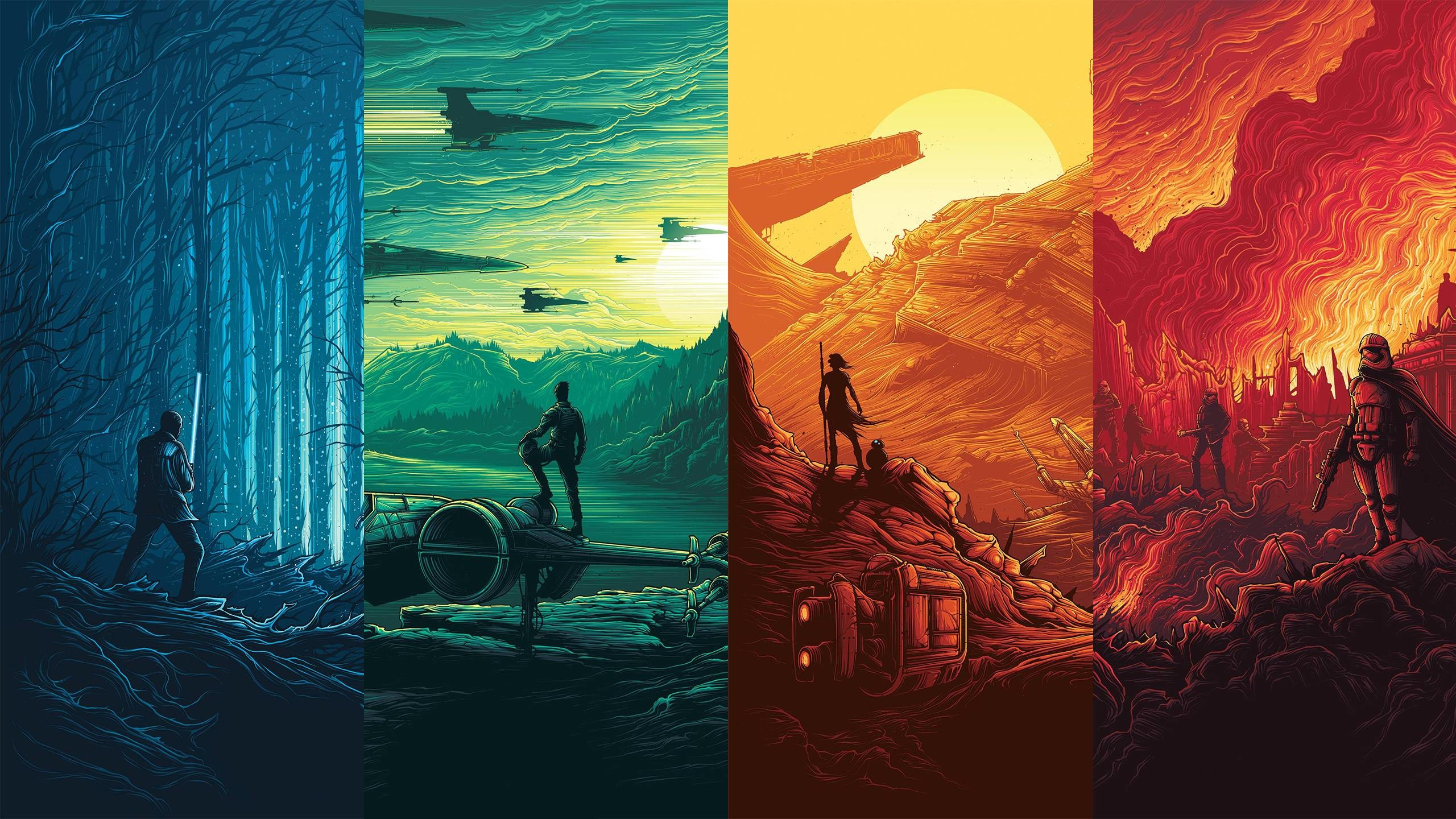 2560x1440 Star Wars: Force Awakens Posters [] ...