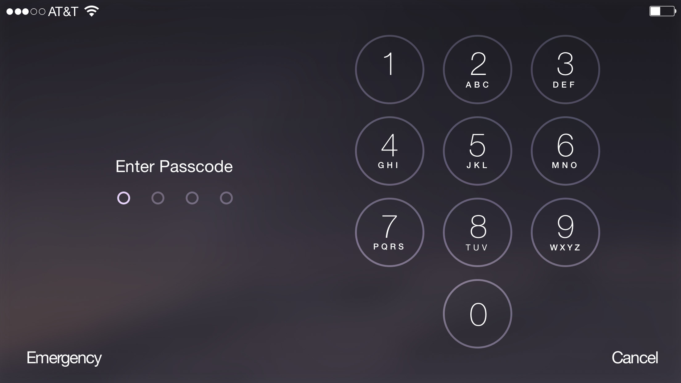 2208x1242 Landscape Lock Screen While Entering Passcode