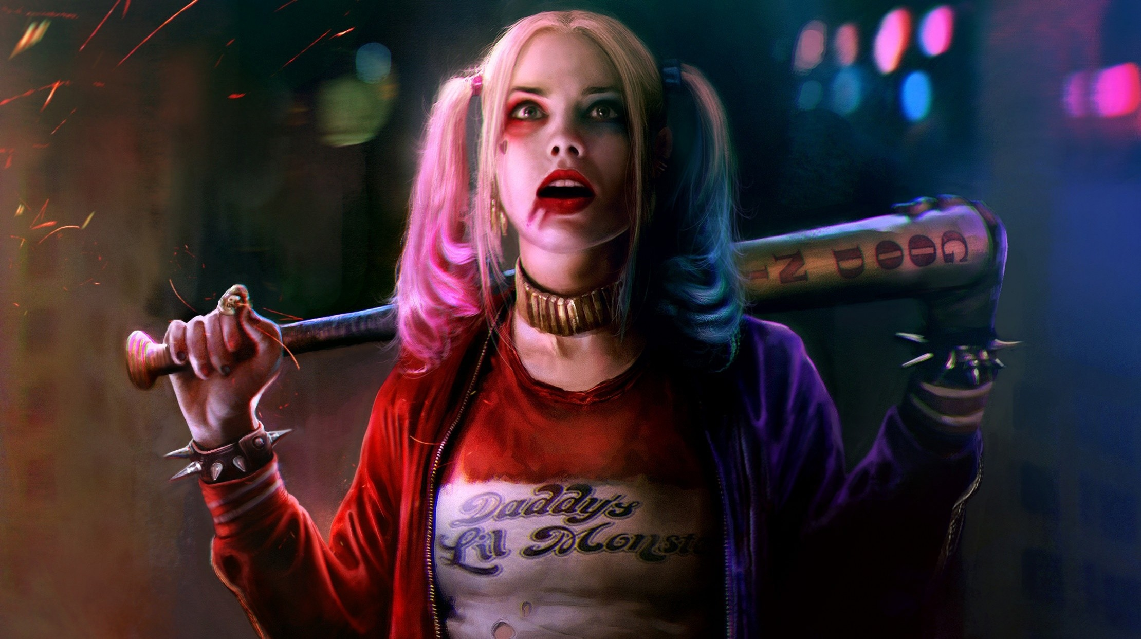 2220x1243 Harley Quinn Margot Robbie Suicide Squad · HD Wallpaper | Background  ID:697989