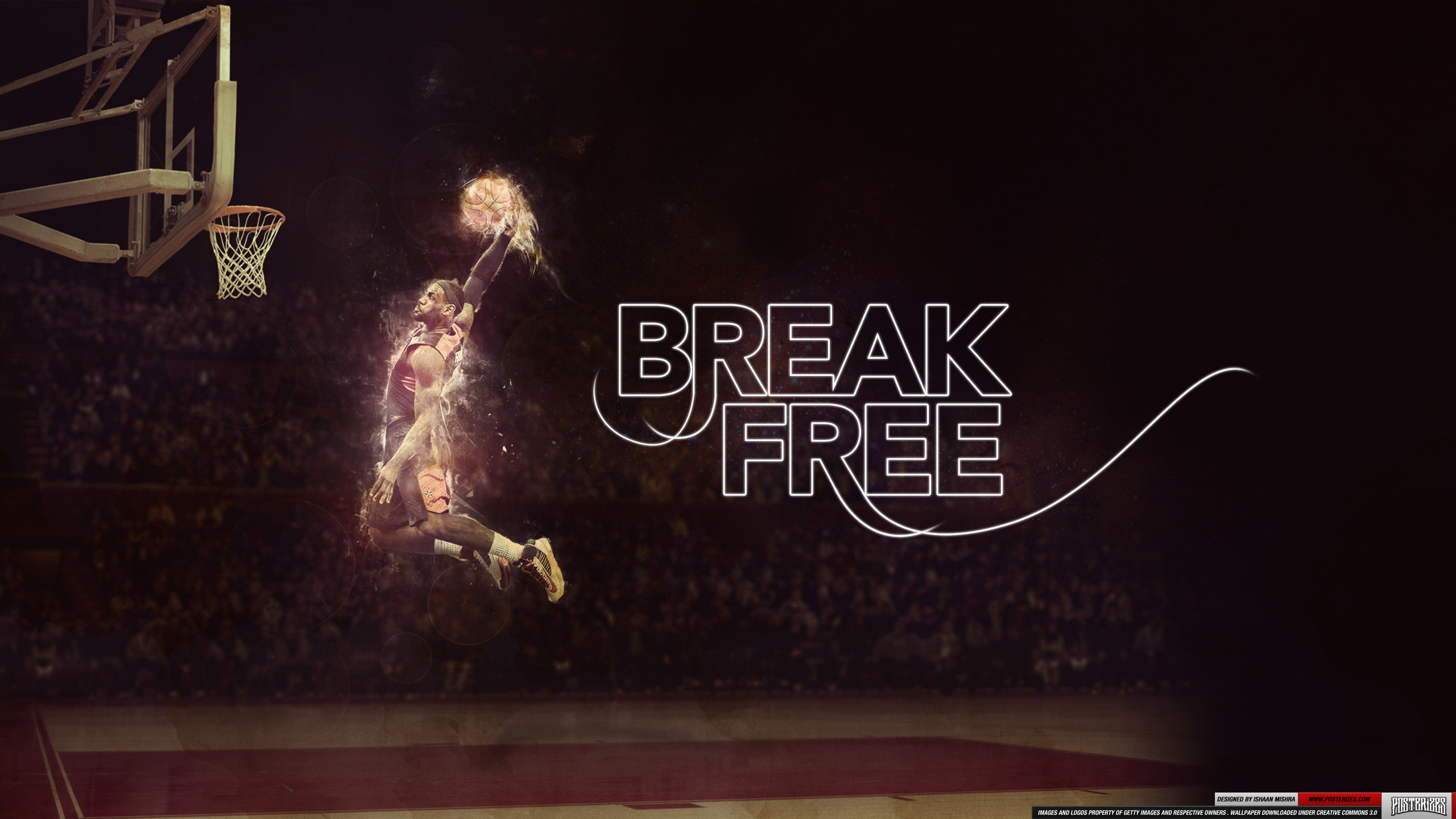 2560x1440 LeBron James Dunk Wallpaper HD