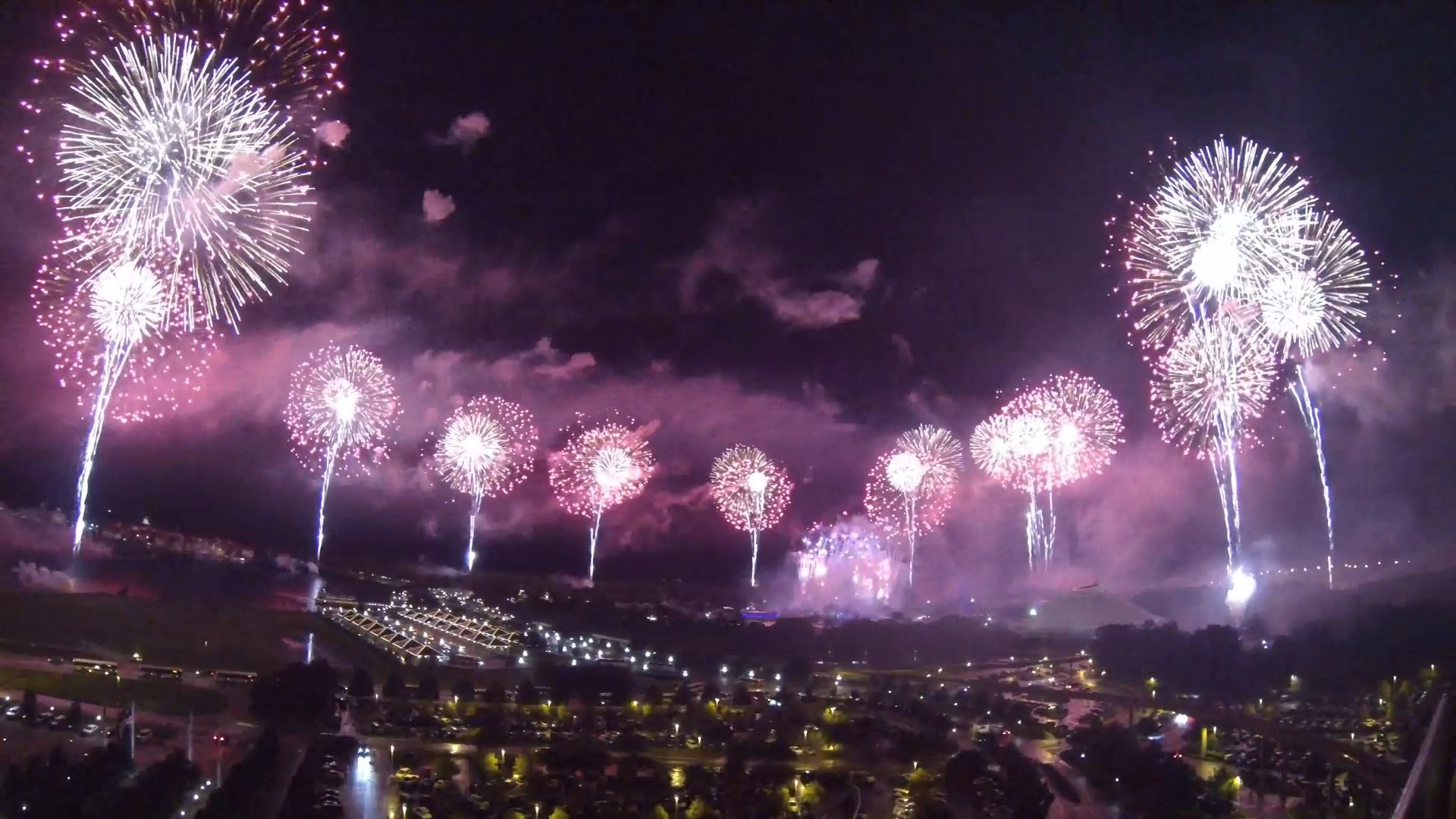 1920x1080 FULL 2015 Magic Kingdom 4th of July 360 Degree Fireworks show at Disney  World - YouTube