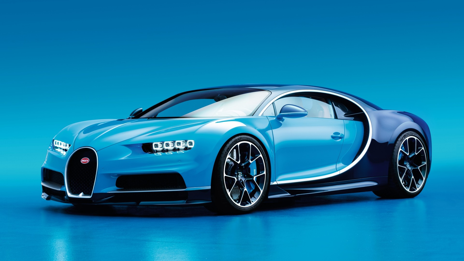 1920x1080 Preview wallpaper bugatti, chiron, side view, blue