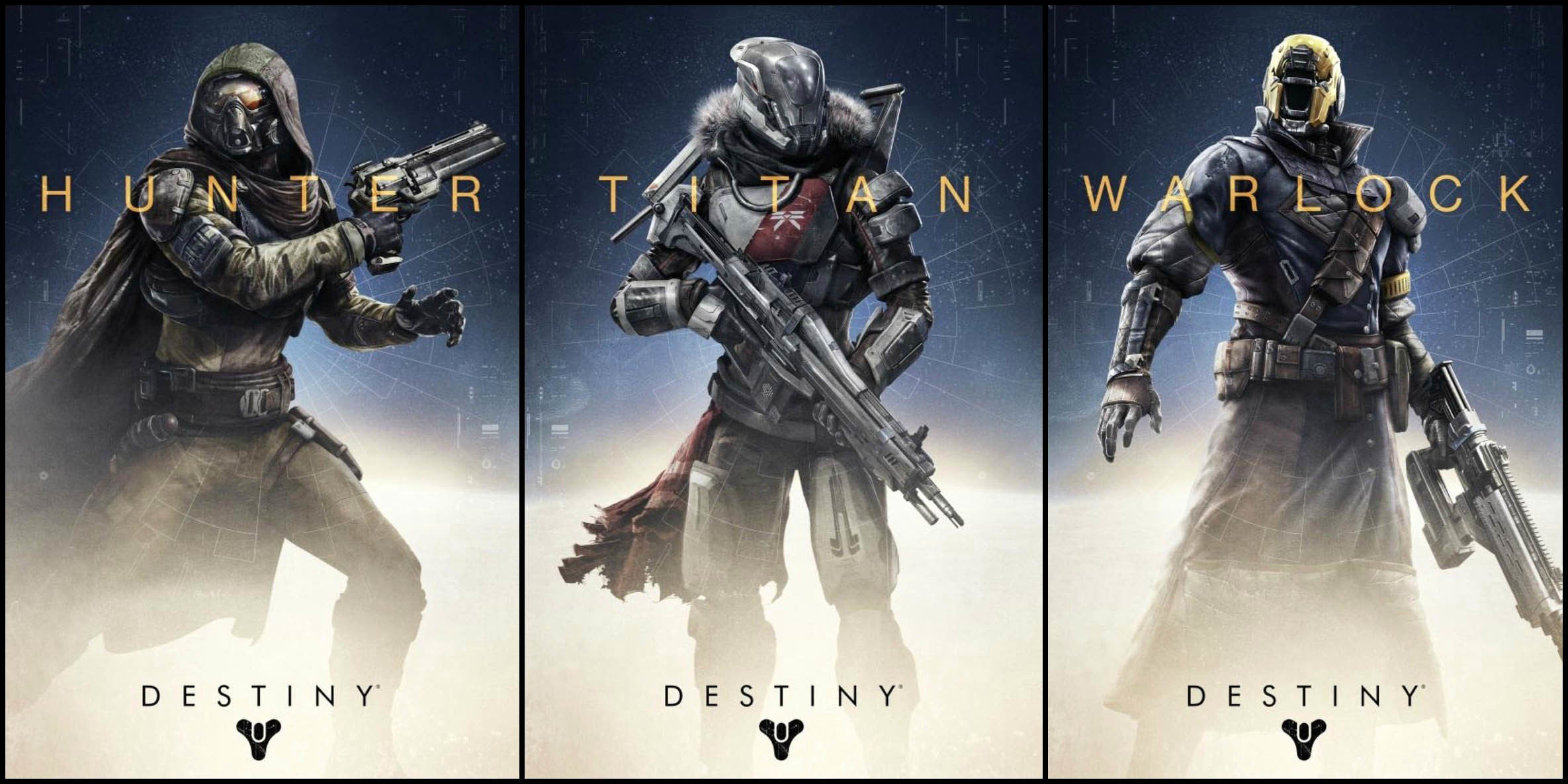 2370x1185 Destiny Classes: Hunter, Titan & Warlock  wallpaper