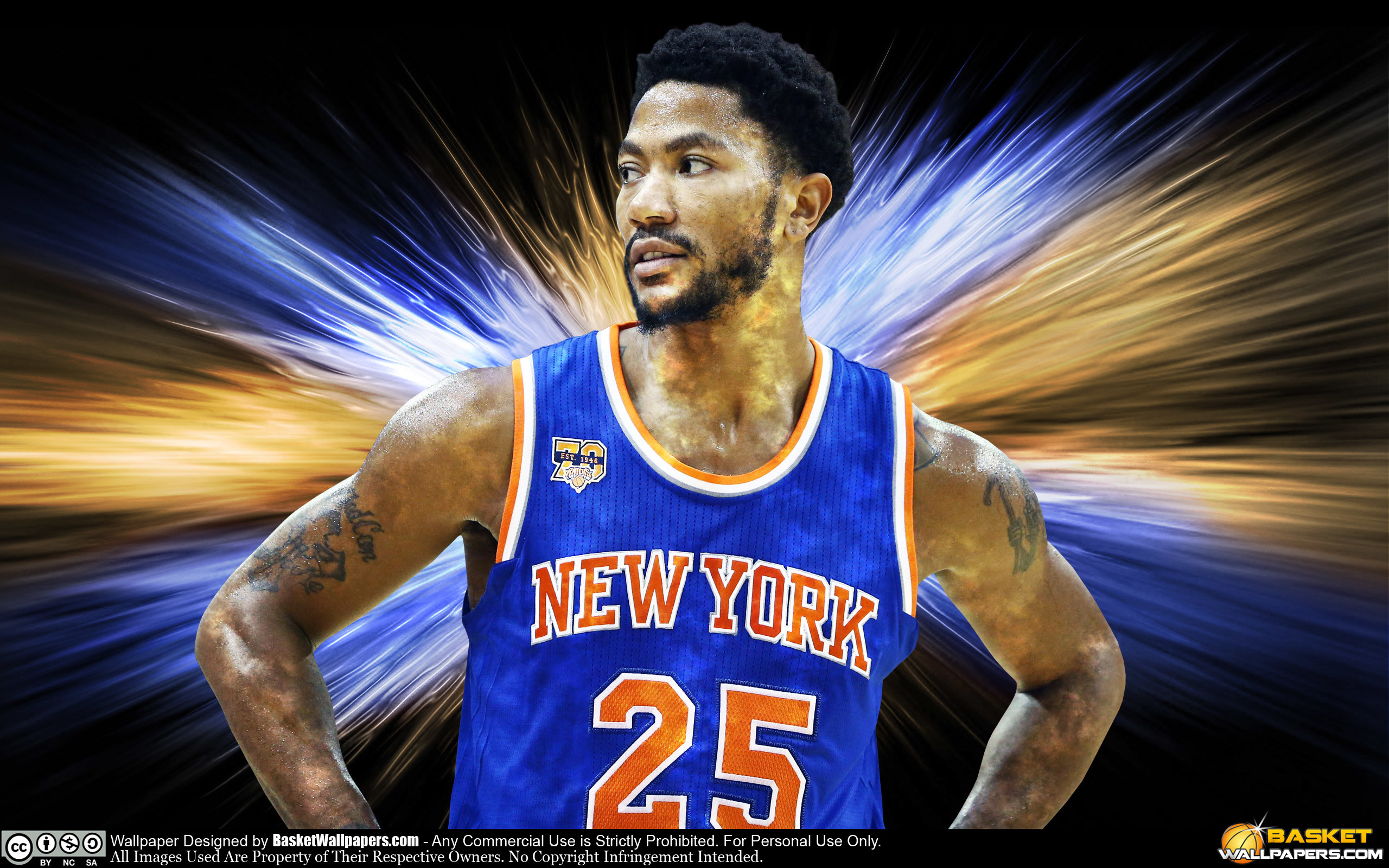 2560x1600 Derrick Rose New York Knicks 2016 Wallpaper