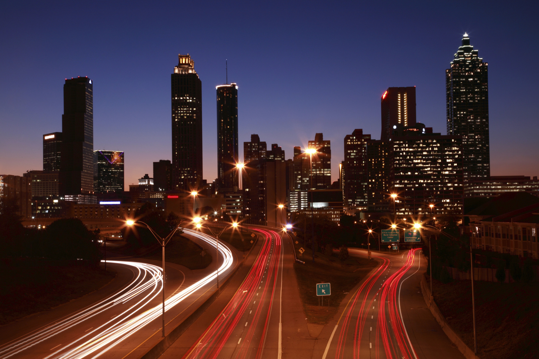2122x1415 Park Centennial Atlanta Night Wallpaper 5 - 2122 X 1415