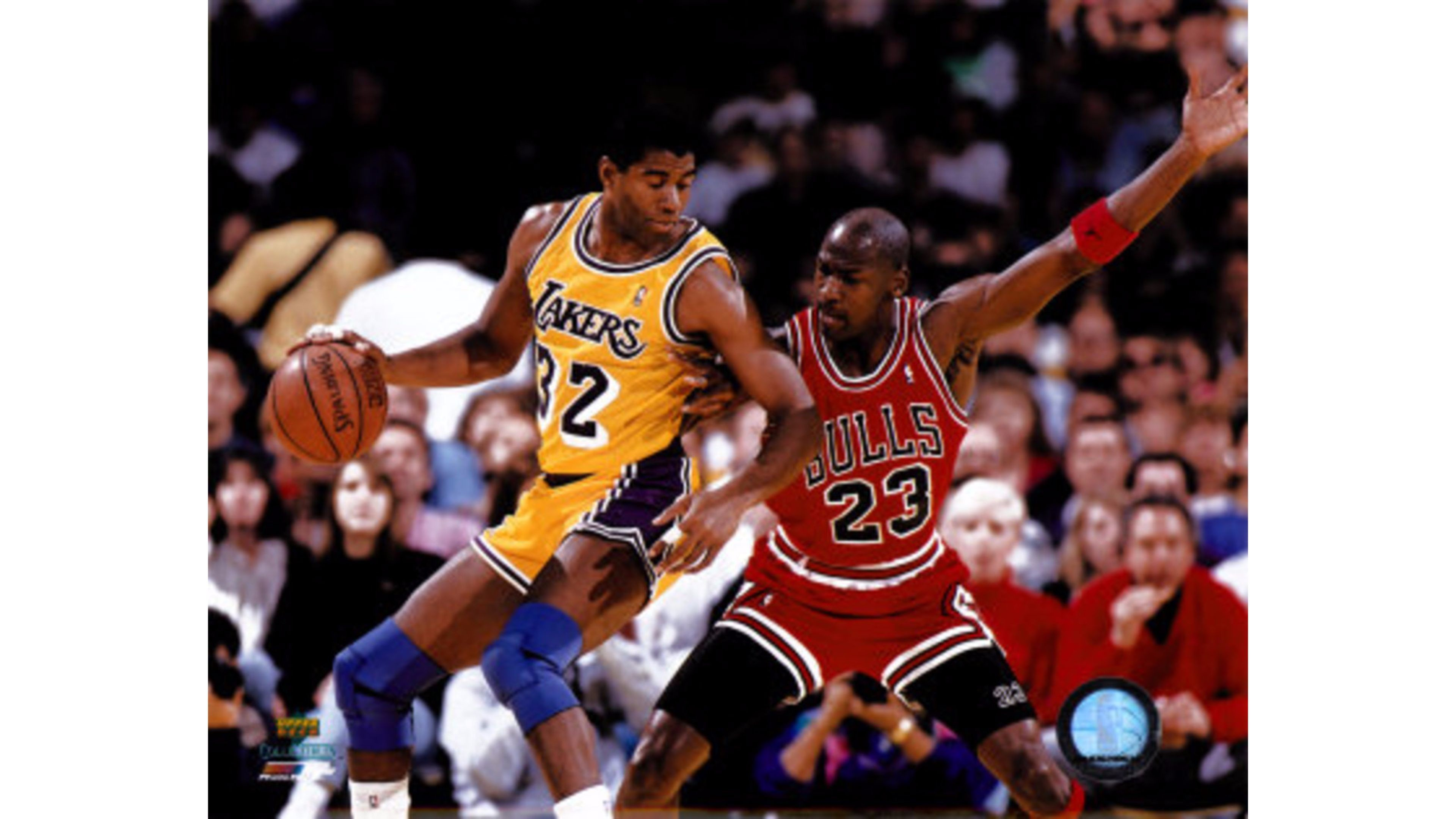 3840x2160 Magic Johnson vs Michael Jordan 4K Wallpaper