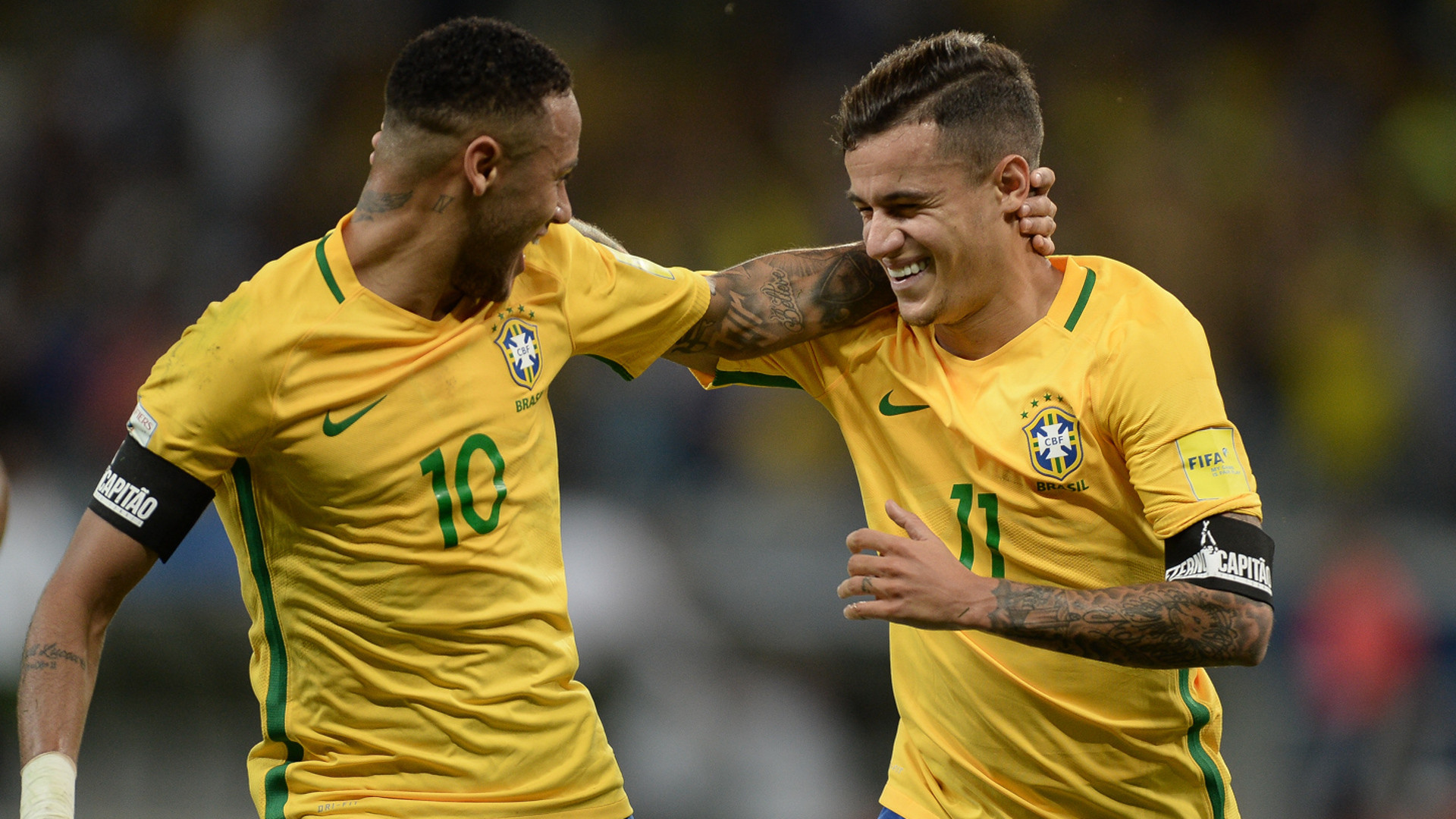 1920x1080 Reunited: Old friends Coutinho and Neymar ready for World Cup bid