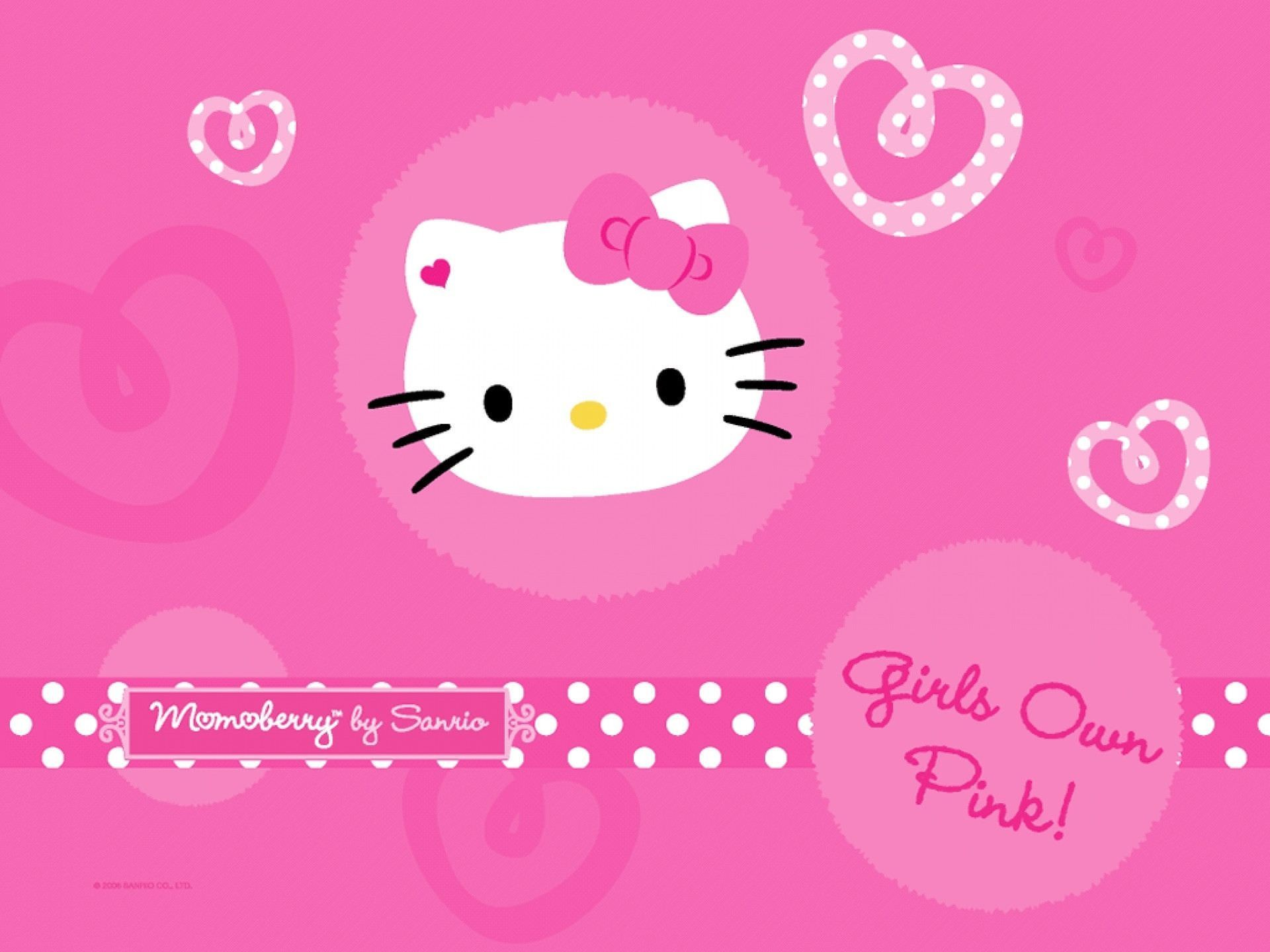 1920x1440 Pretty Hello Kitty Pink Background