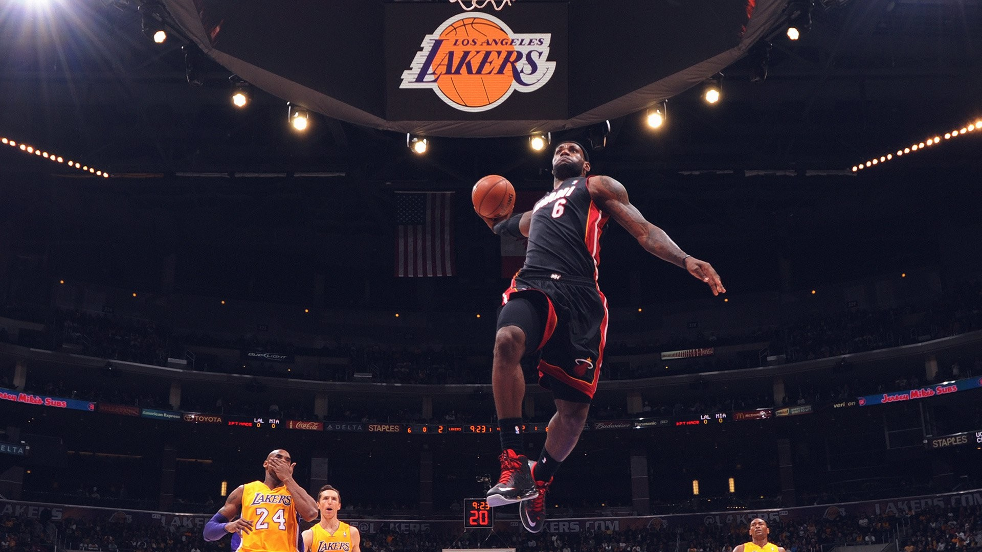 1920x1080 Lebron James Dunk Wallpapers Full Hd