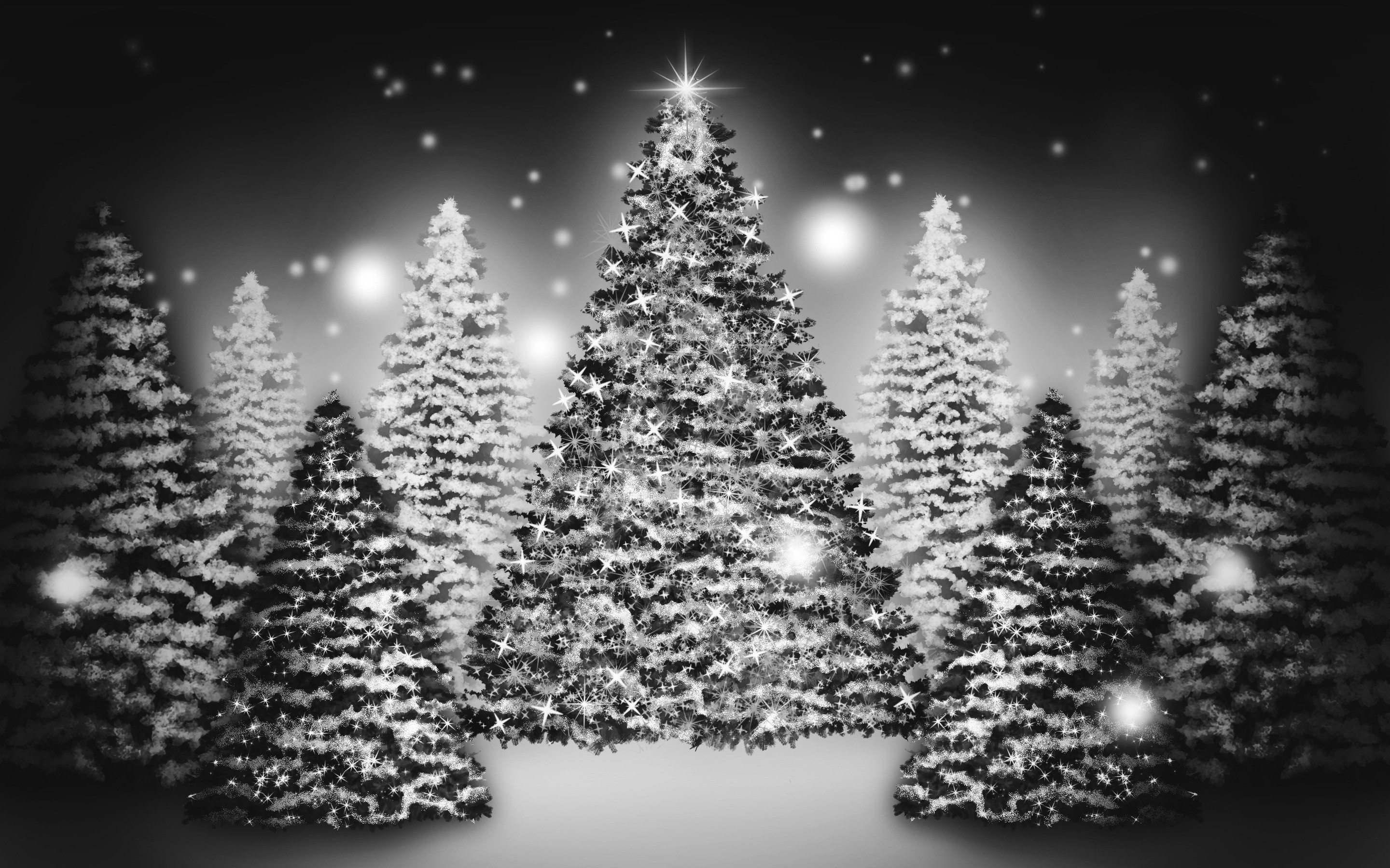 2880x1800 White Christmas Tree Wallpaper (18)