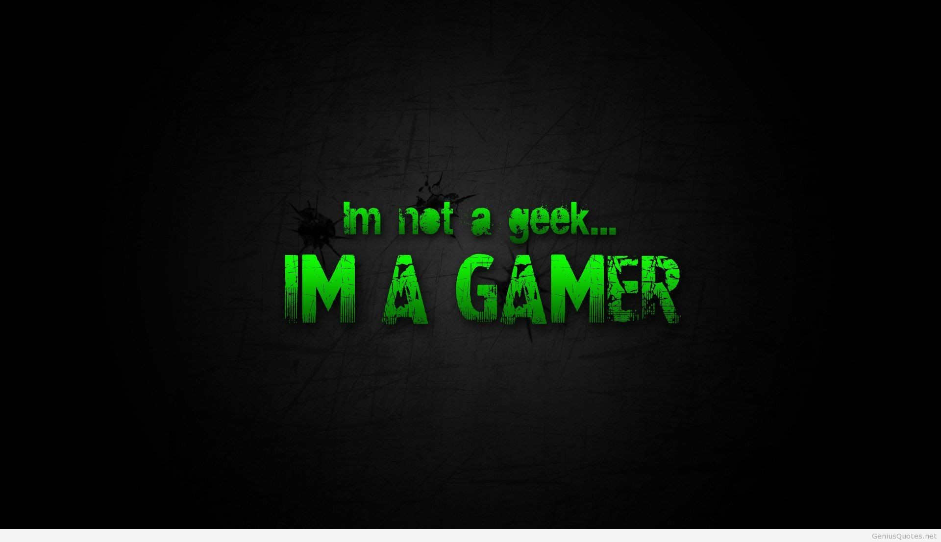 1920x1107 I'm a gamer quote HD wallpaper