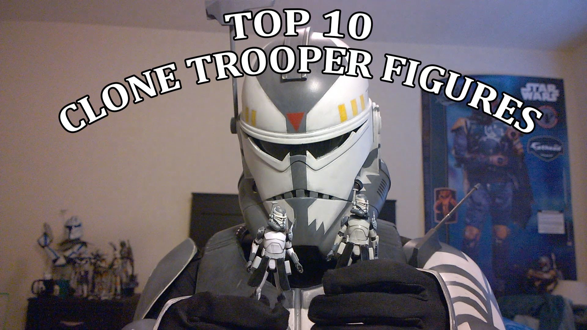 1920x1080 Top 10 The Clone Wars Clone trooper Hasbro figures with Wolffe HD - YouTube
