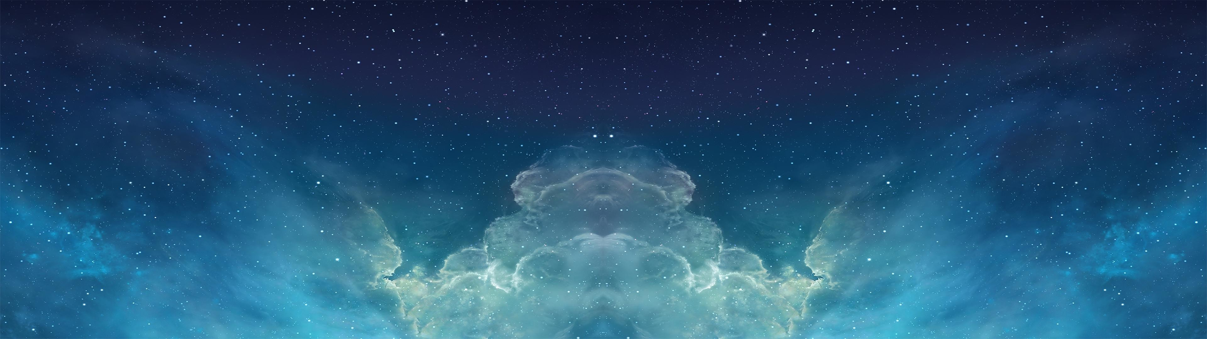 3840x1080 Found this wallpaper, made it dual screen - Starblazer cloud skies [ 3840 x  1080 ]Dual ...