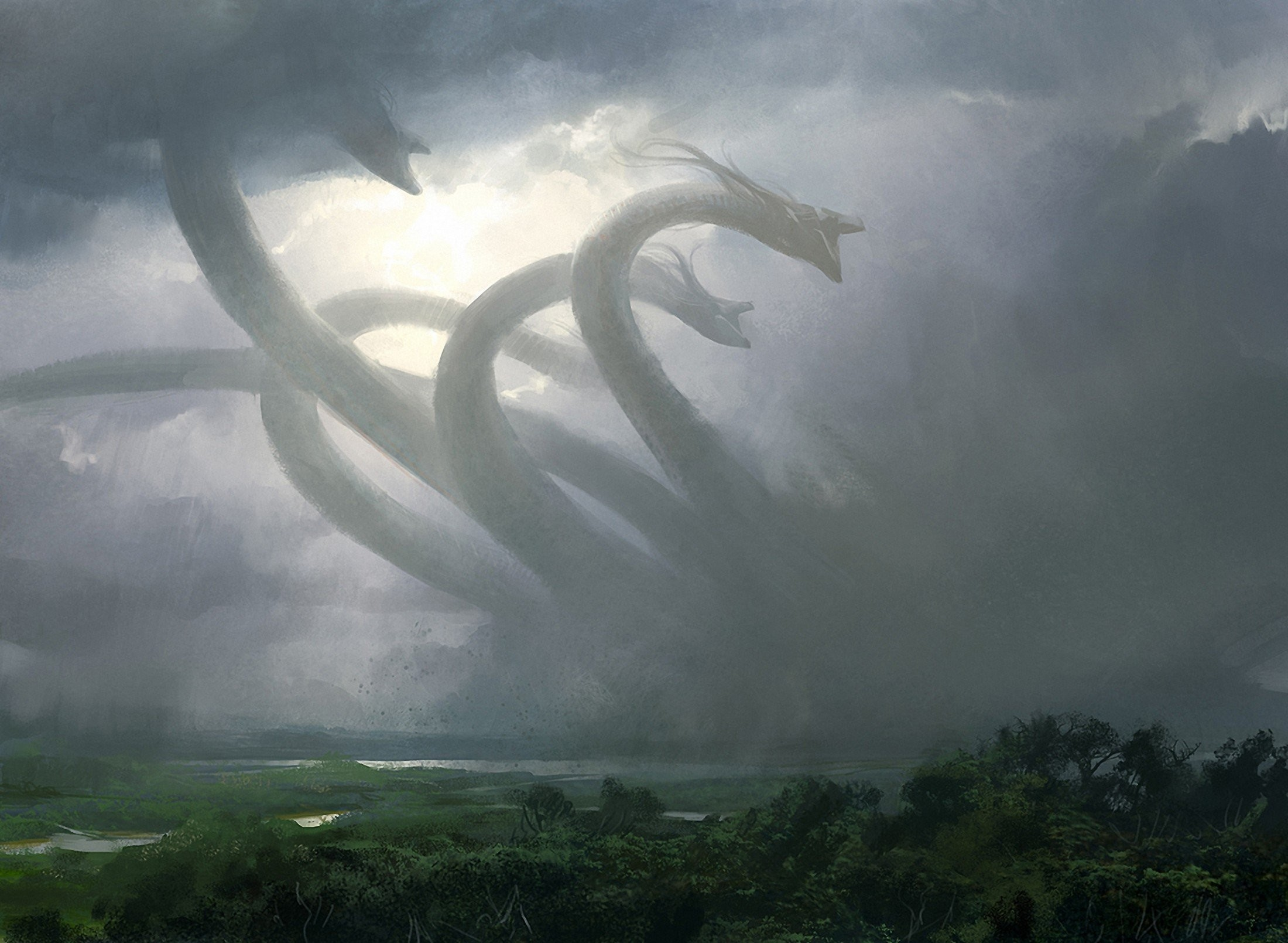 2200x1609 Fantasy Art Hydra Mythology Creatures ...