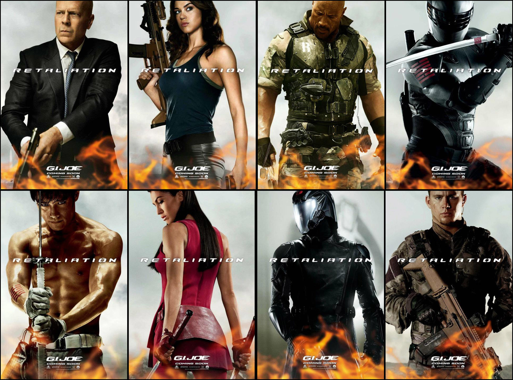 1944x1440 Movie - G.I. Joe: Retaliation Movie Cast Dwayne Johnson Bruce Willis  Wallpaper