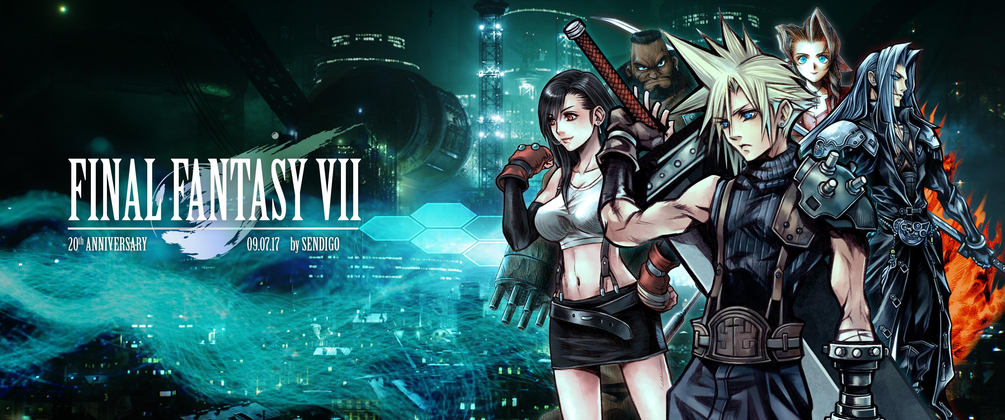 Final Fantasy VII 20th Anniversary Wallpaper By Sendigo