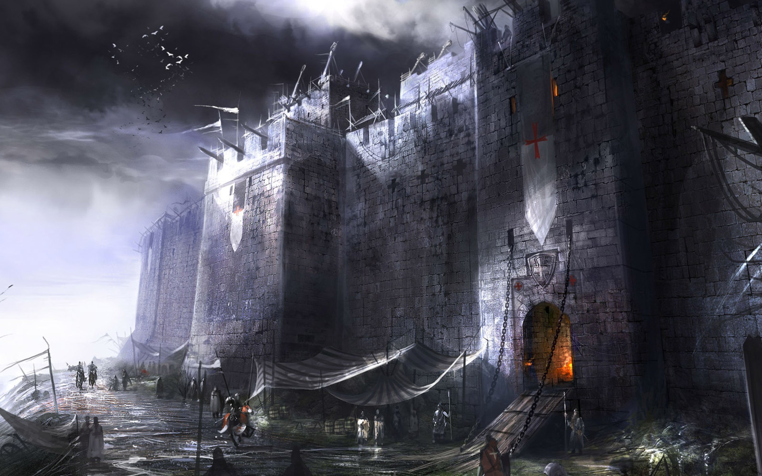 2560x1600 Image for Goth Wallpapers Castle 37 | <{*KNIGHTs}> & <{*CASTLEs}> |  Pinterest | Castles and Wallpaper