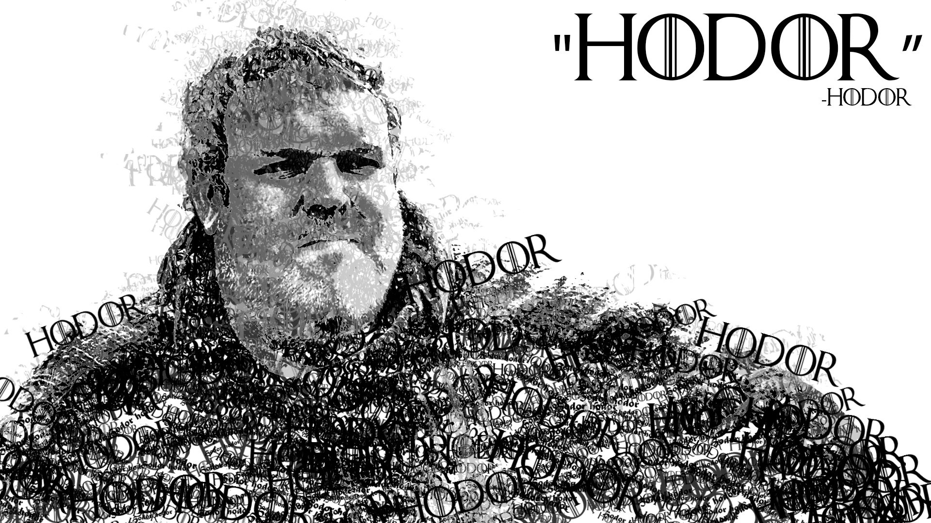 1920x1080 Game Of Thrones Hodor Quotes Text White Background ...