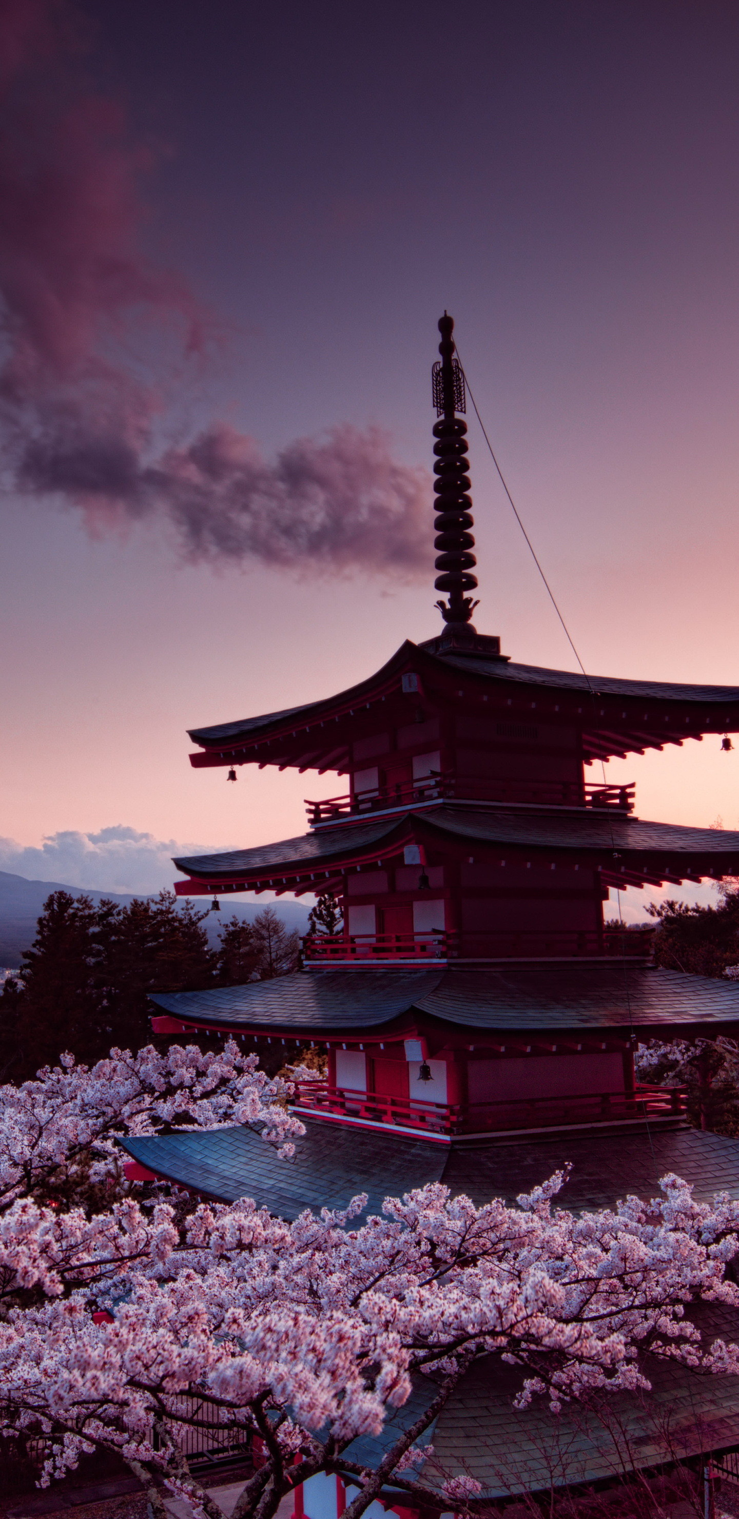 1440x2960 churei-tower-mount-fuji-in-japan-8k-68.