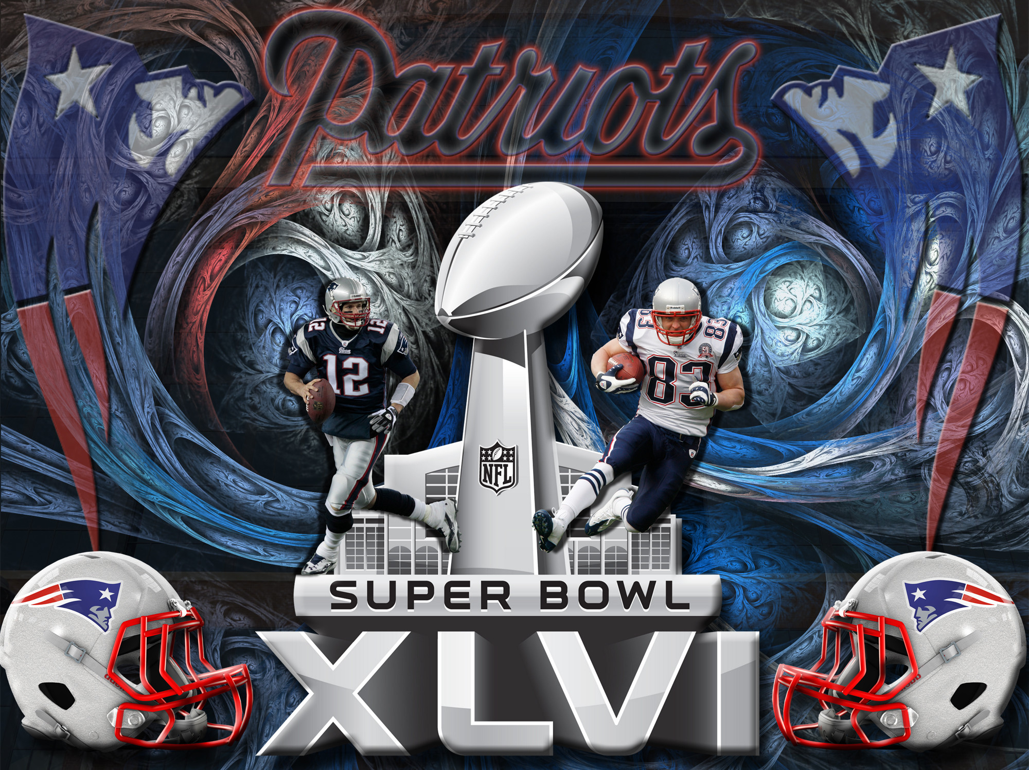 2000x1497 4x3 Alternate style | 5x4 Standard | 16x9 Widescreen | 16x10 Widescreen New  England Patriots Super Bowl XLVI Wallpaper ...