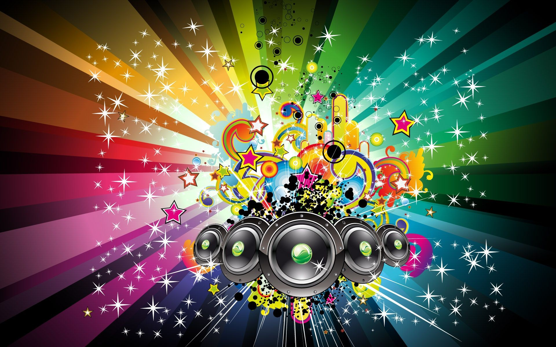 1920x1200 Colorful Musical Notes Wallpapers | High Definition Wallpapers