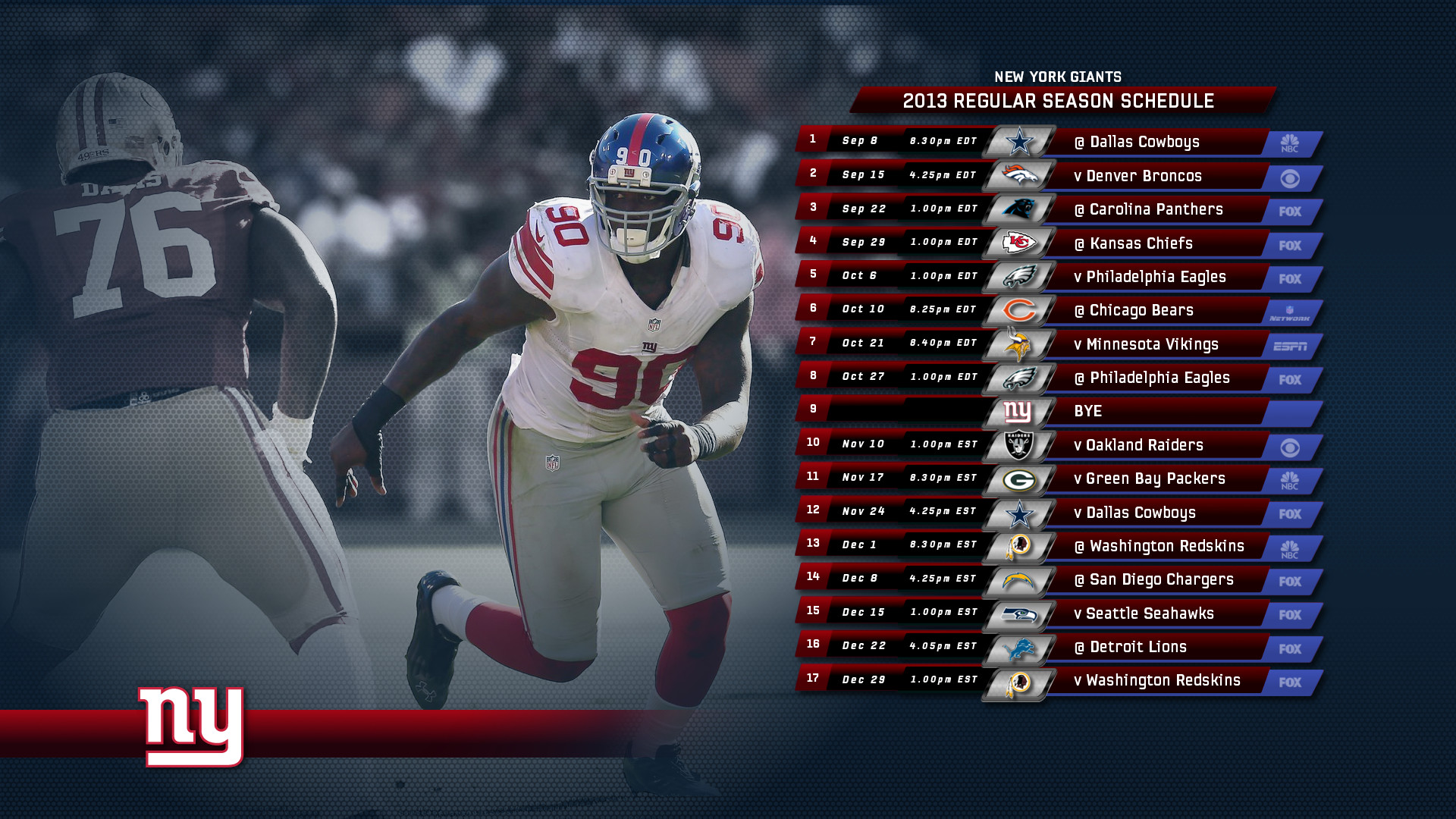 1920x1080 2013 Giants Schedule Wallpapers [Archive] - New York Giants Fan Forum