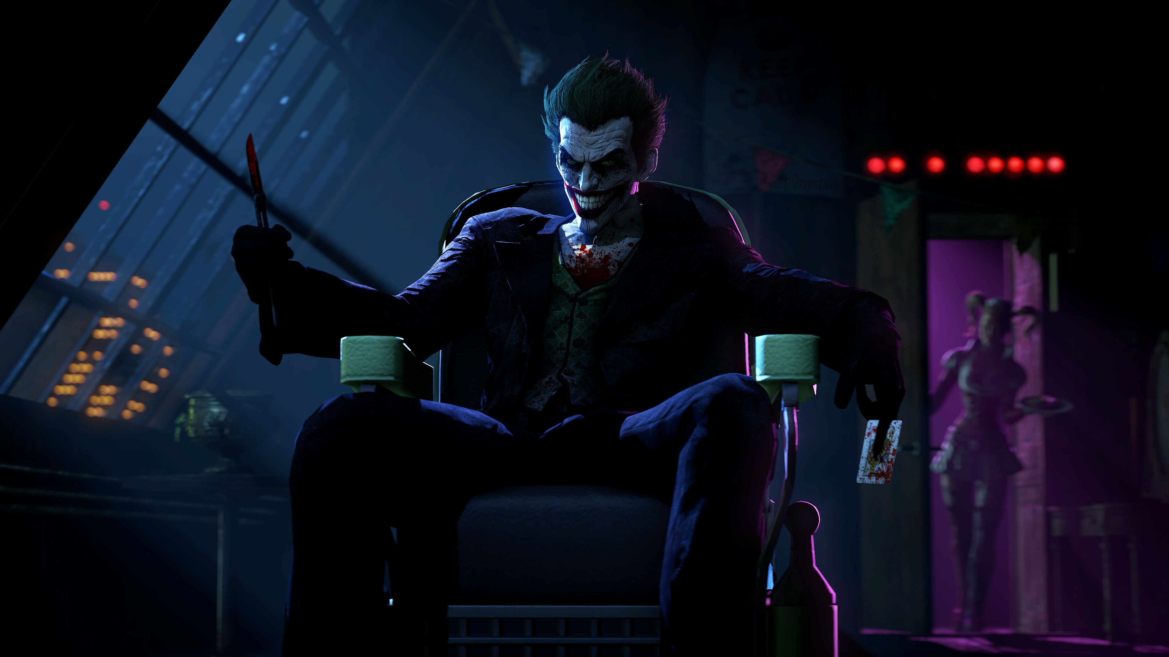 3840x2160 Joker In Batman Arkham Origins