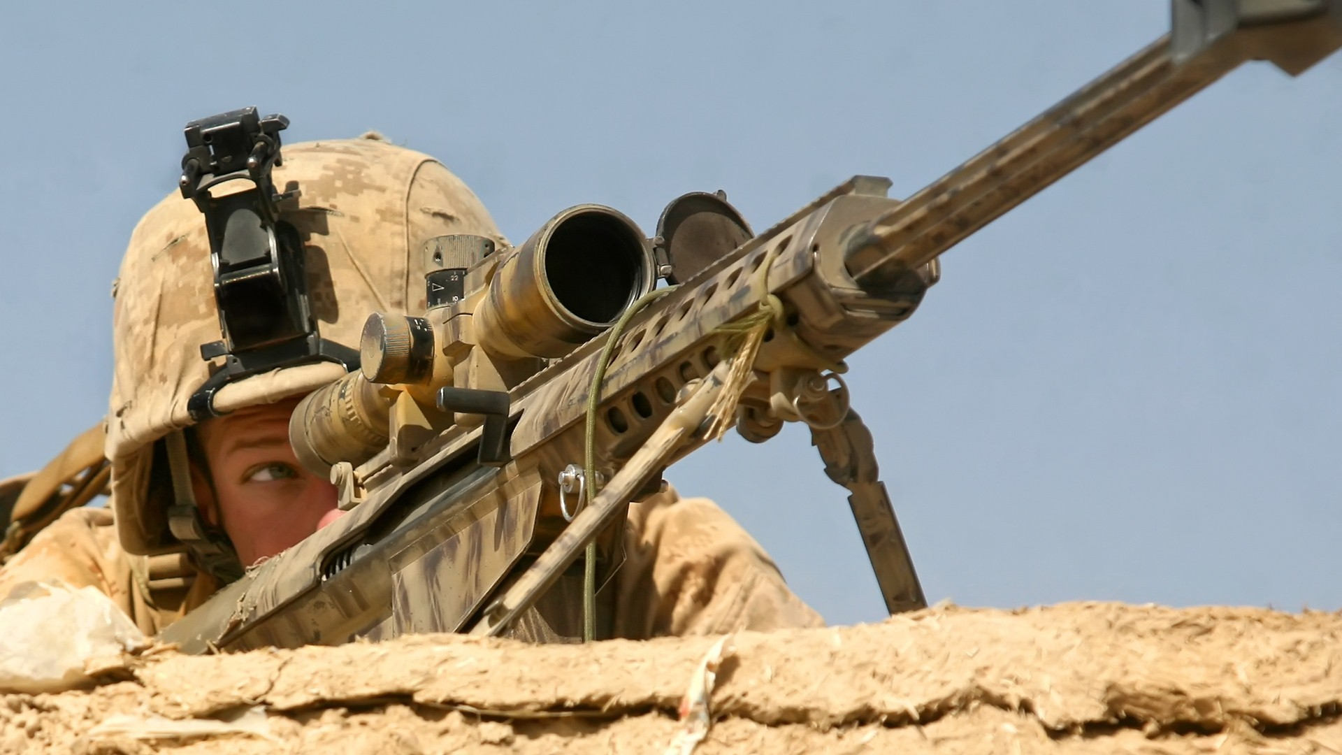 1920x1080 US Army Soldiers Shoot Using Sniper Rifle Photo | HD Famous Wallpapers