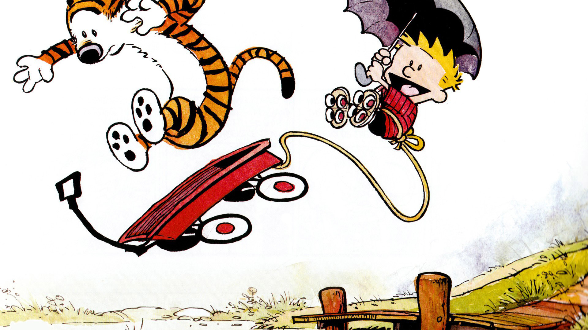 1920x1080 Calvin and Hobbes HD Wallpaper