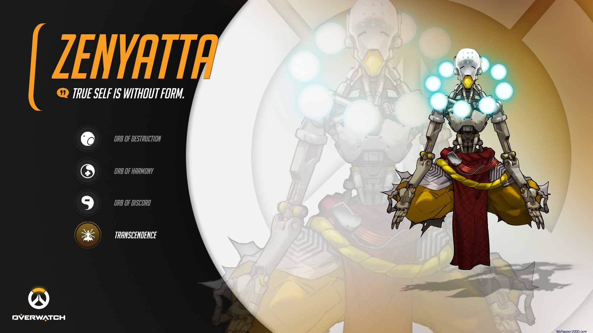 1920x1080 Overwatch Zenyatta Wallpapers Background
