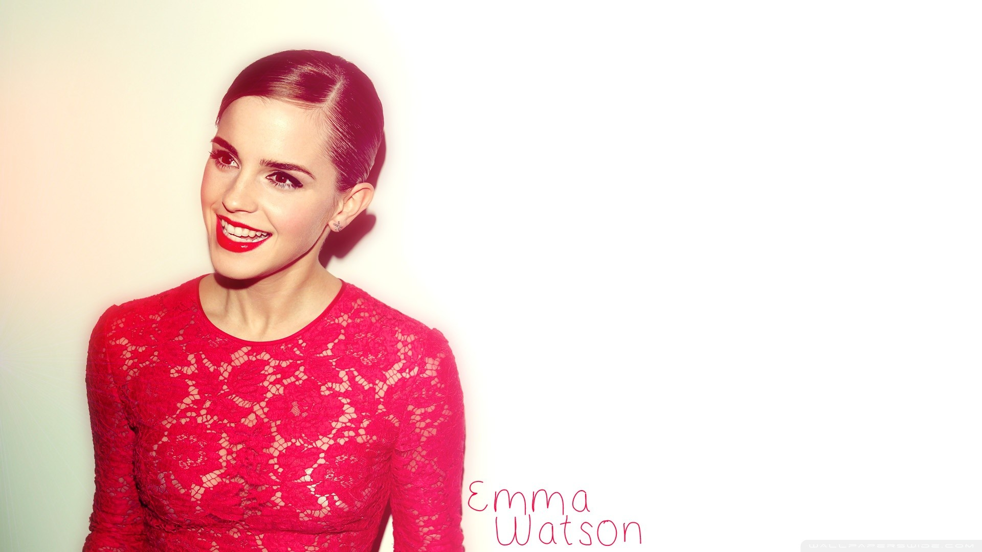1920x1080 Emma Watson Red Dress (2012) HD Wide Wallpaper for 4K UHD Widescreen  desktop &
