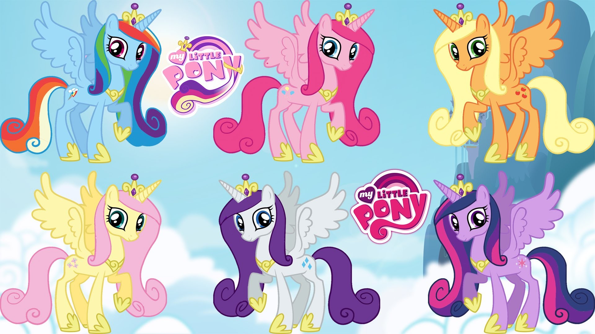 1920x1080 MY LITTLE PONY Princess Cadance Transforms Into Mane 6 Color Swap MLP  Transforms Coloring Videos - YouTube