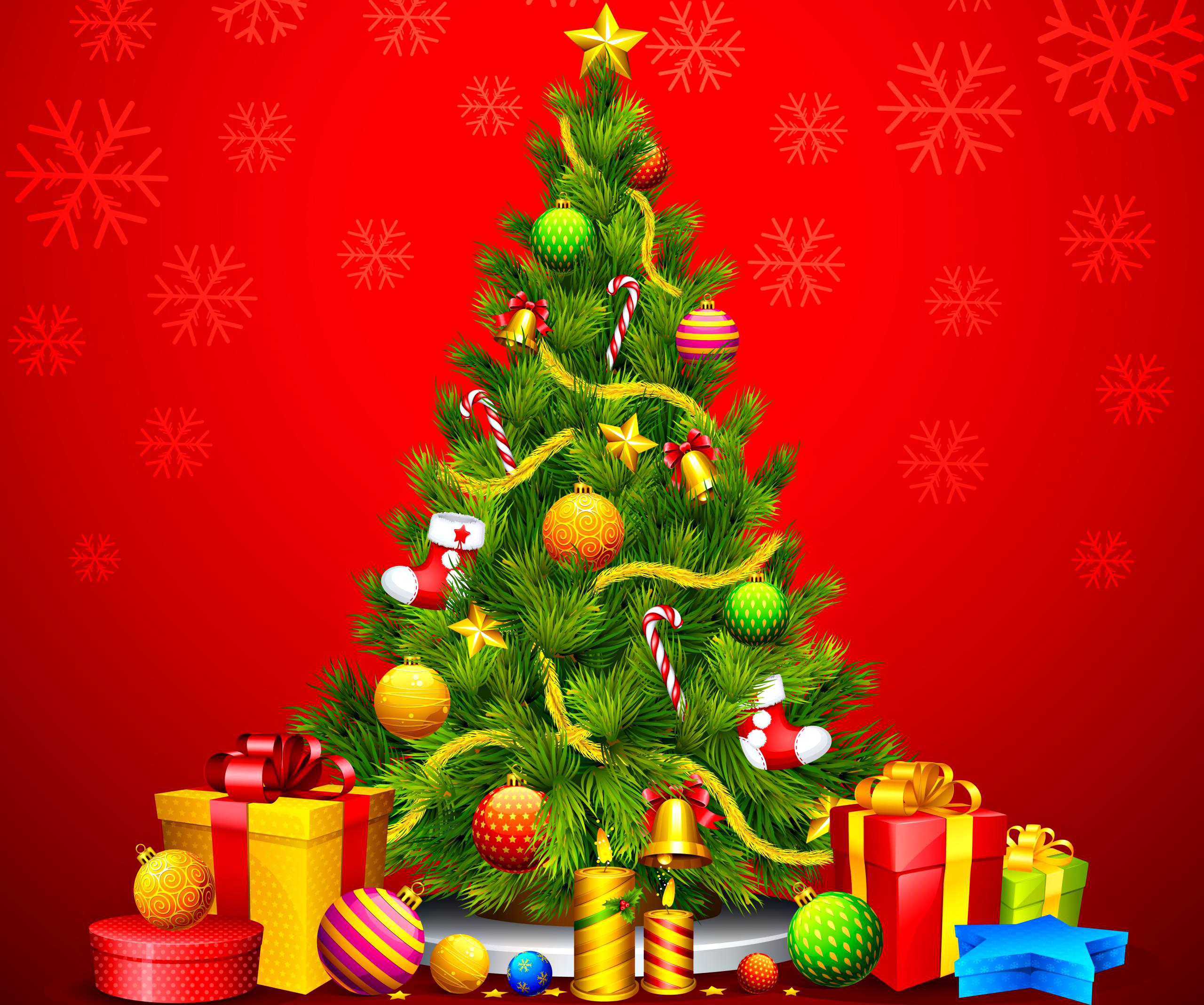 2560x2136 christmas tree animated hd wallpaper new christmas tree and fireplace #9755