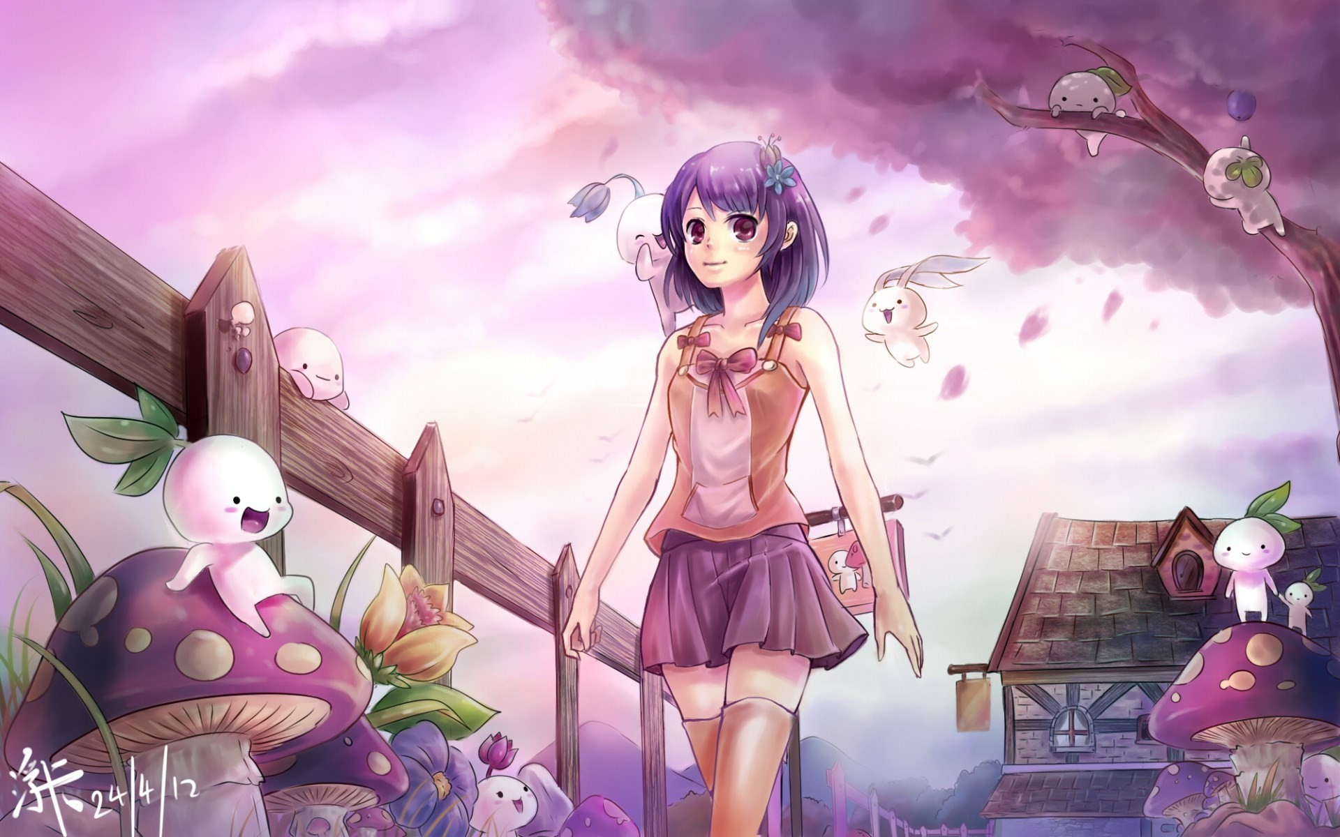 Cute Anime Background 66 Images