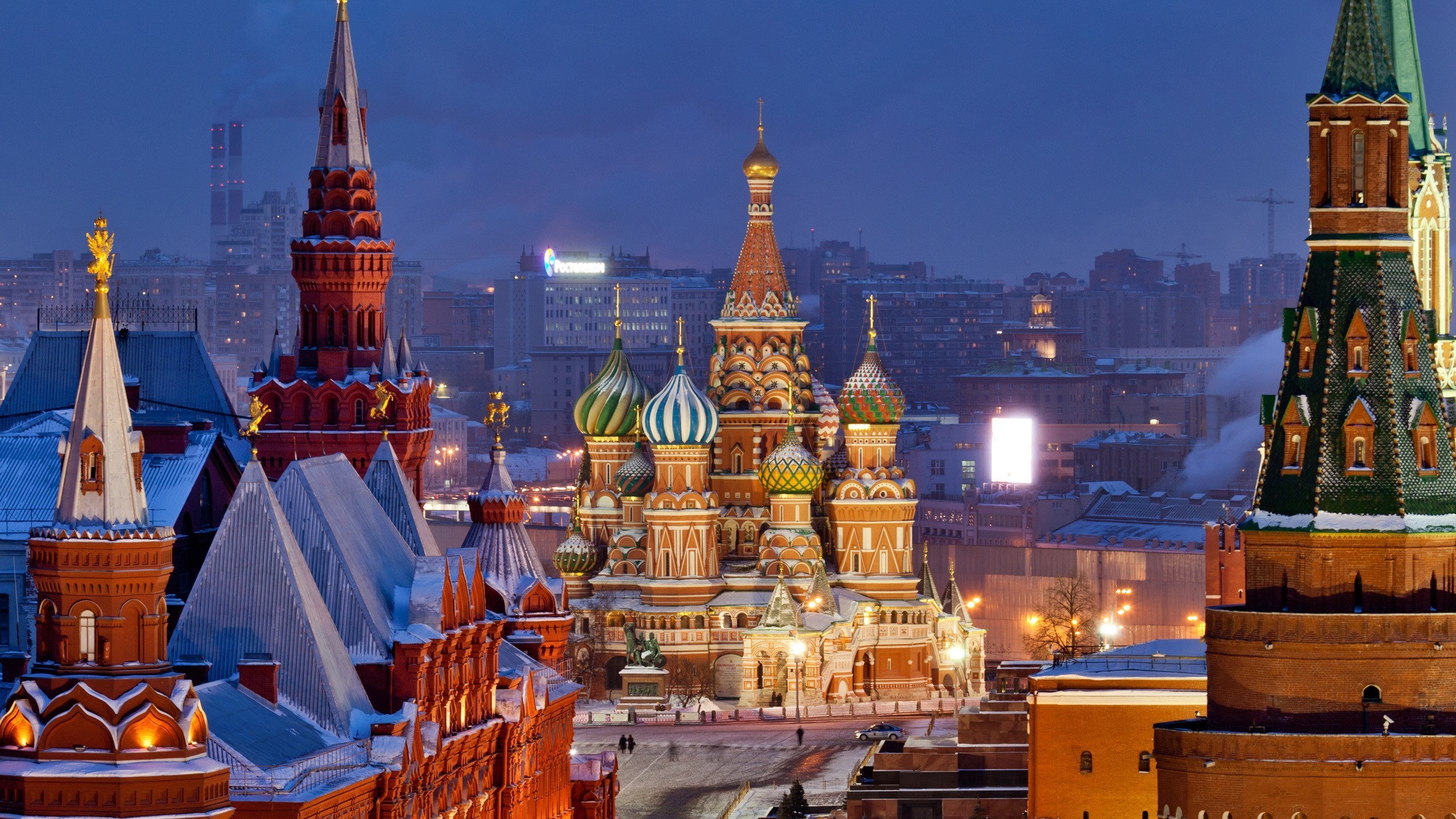 2560x1440 Moscow, Russia, Europe, Church, Kremlin, Snow Wallpapers HD / Desktop and  Mobile Backgrounds