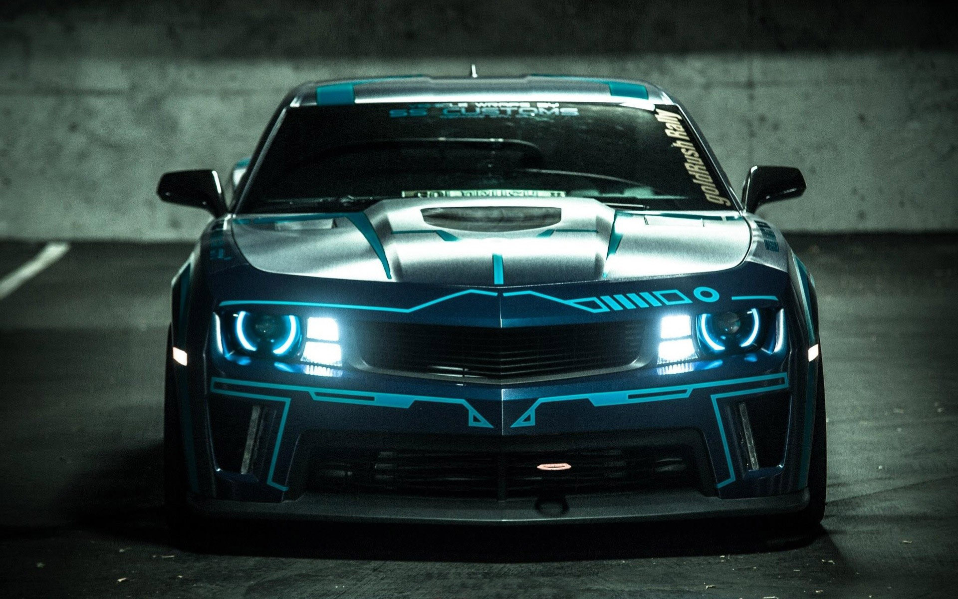 1920x1200 ... Customs TRON Chevrolet Camaro HD Wallpaper