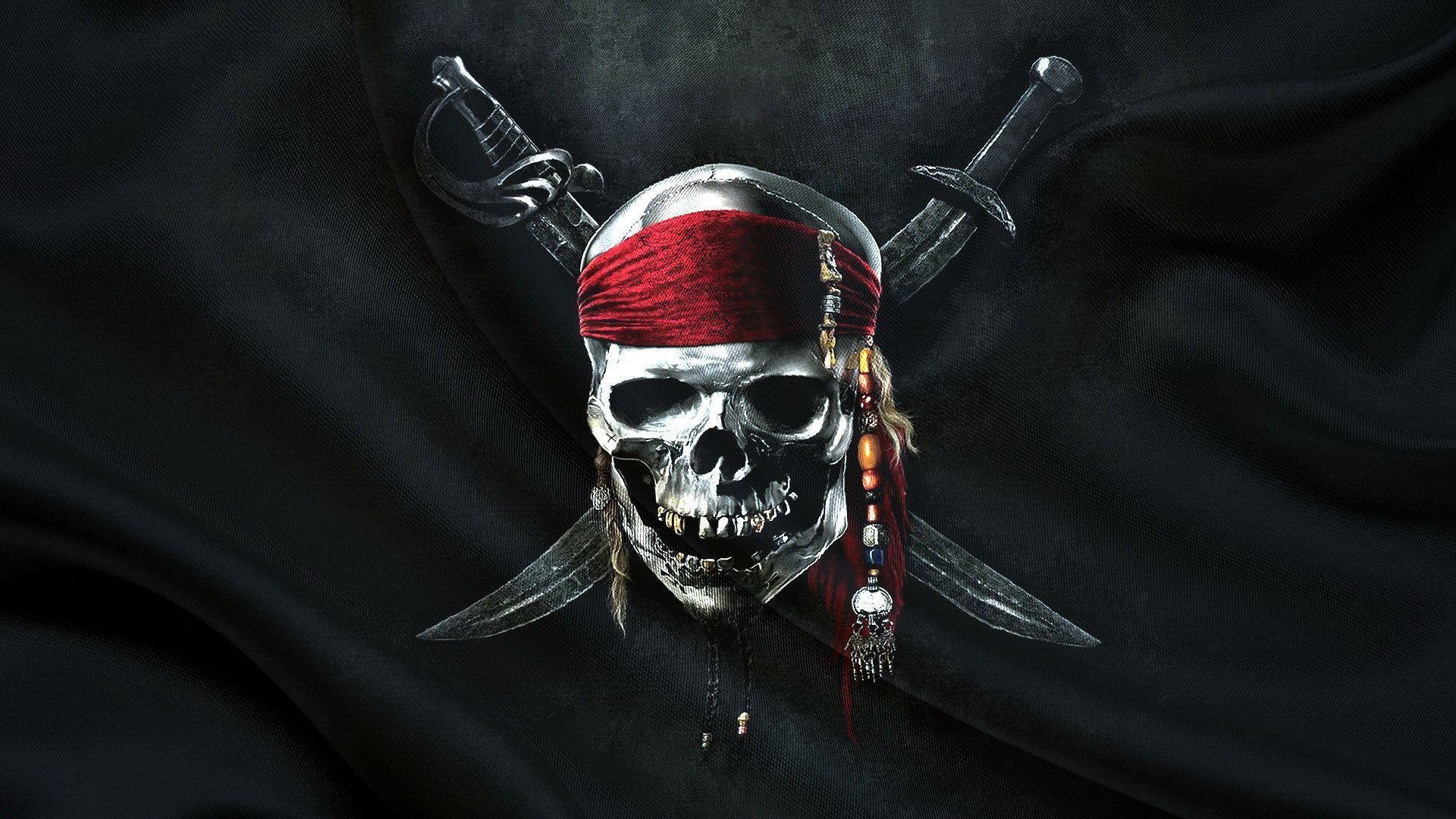 1920x1080 Jolly Roger Pirates Flag | Background and Texture