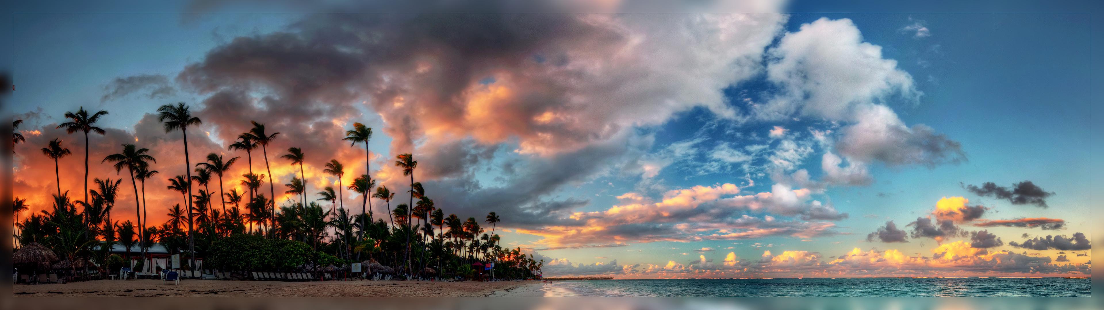 dual screen wallpaper 3840x1080 beach - photo #11