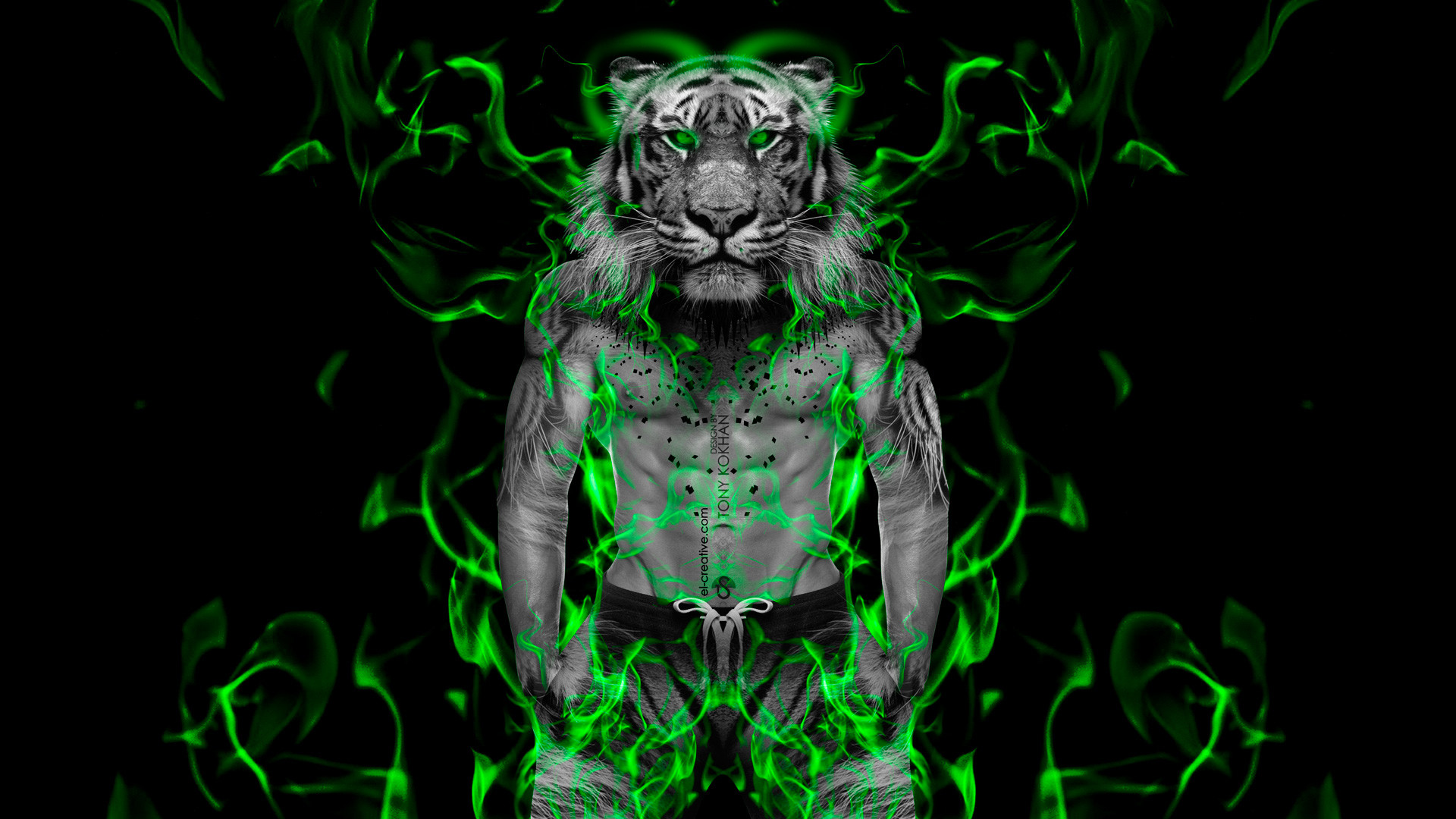 Fantasy Muscle Fire Boy Tiger 2014