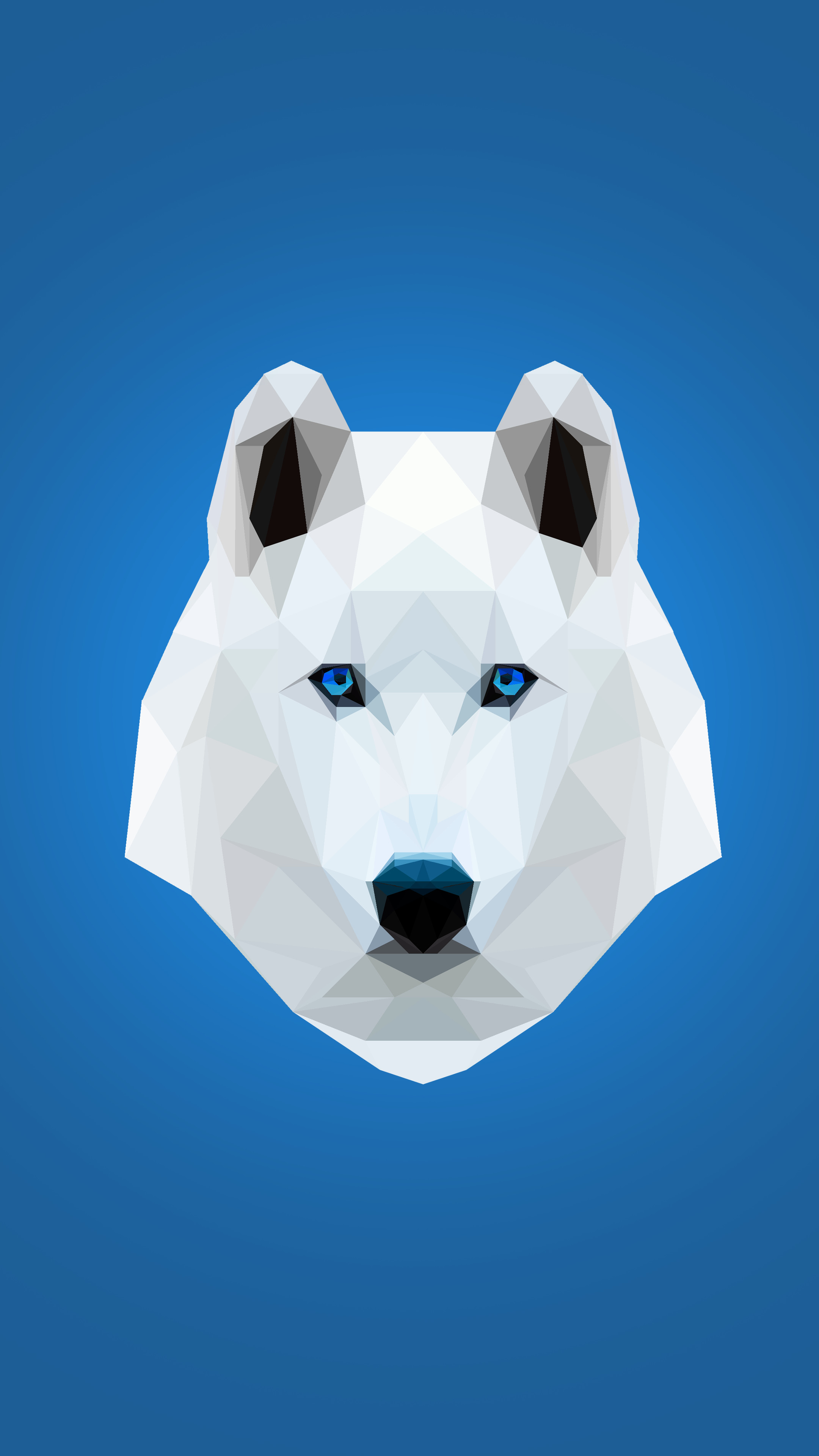 2160x3840 ... White Wolf Low-Poly Phone Wallpaper by Recuvan