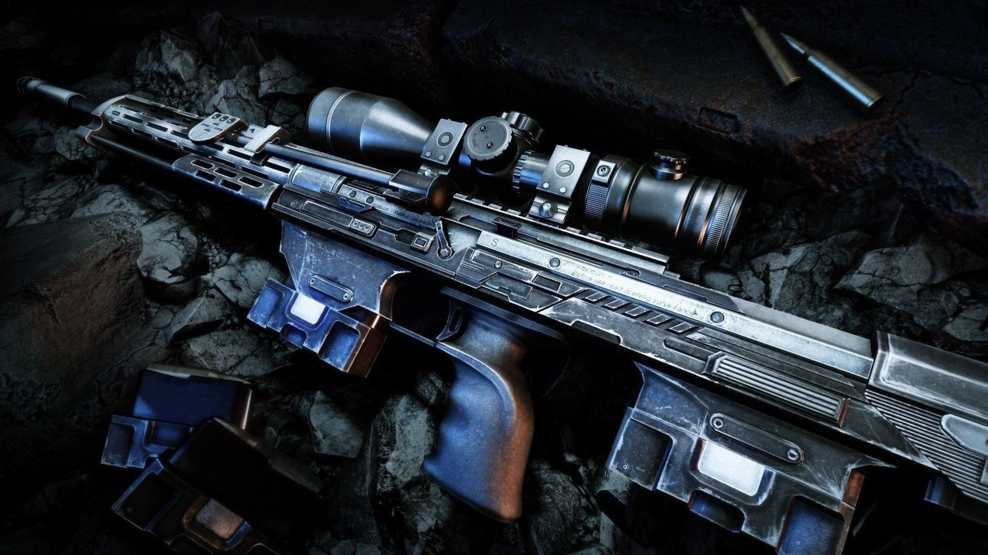 1920x1080 3d Cool Rifle Wallpaper Hd Android