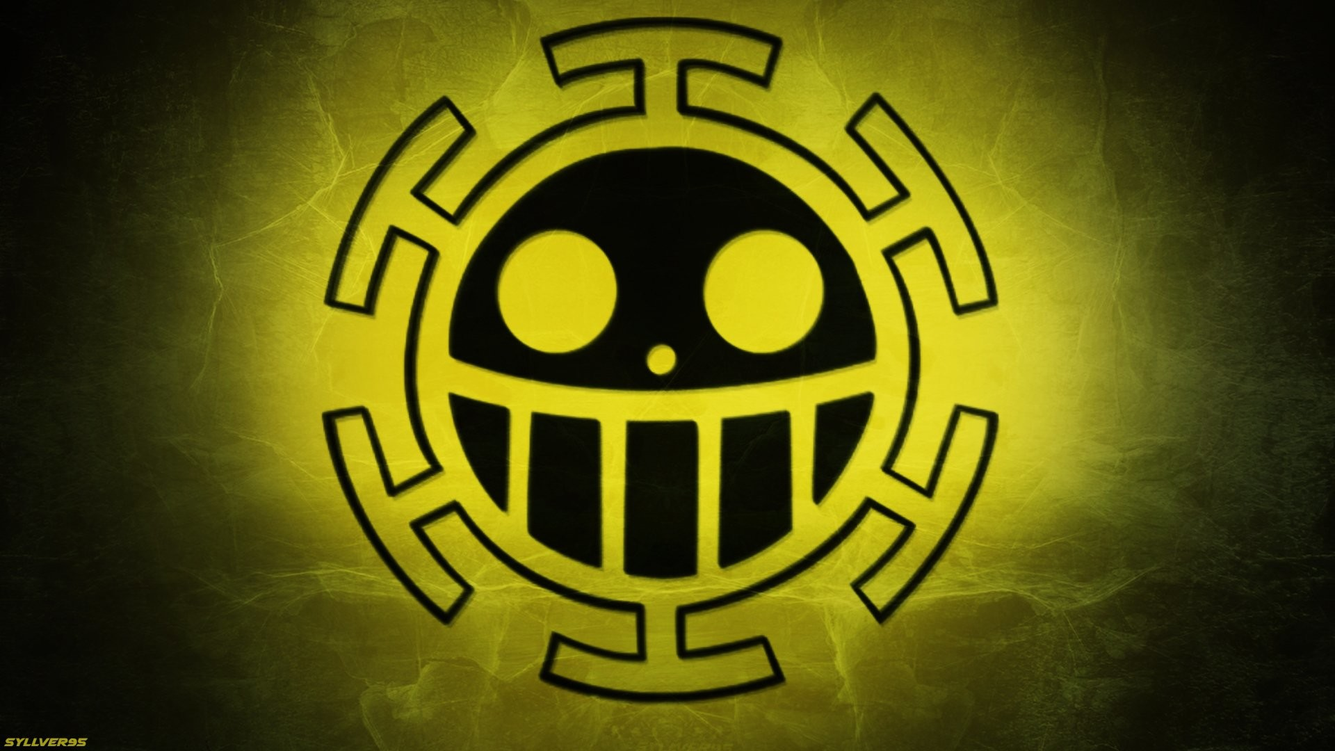 1920x1080 Anime - One Piece Trafalgar Law Anime Pirate Jolly Roger Yellow Wallpaper