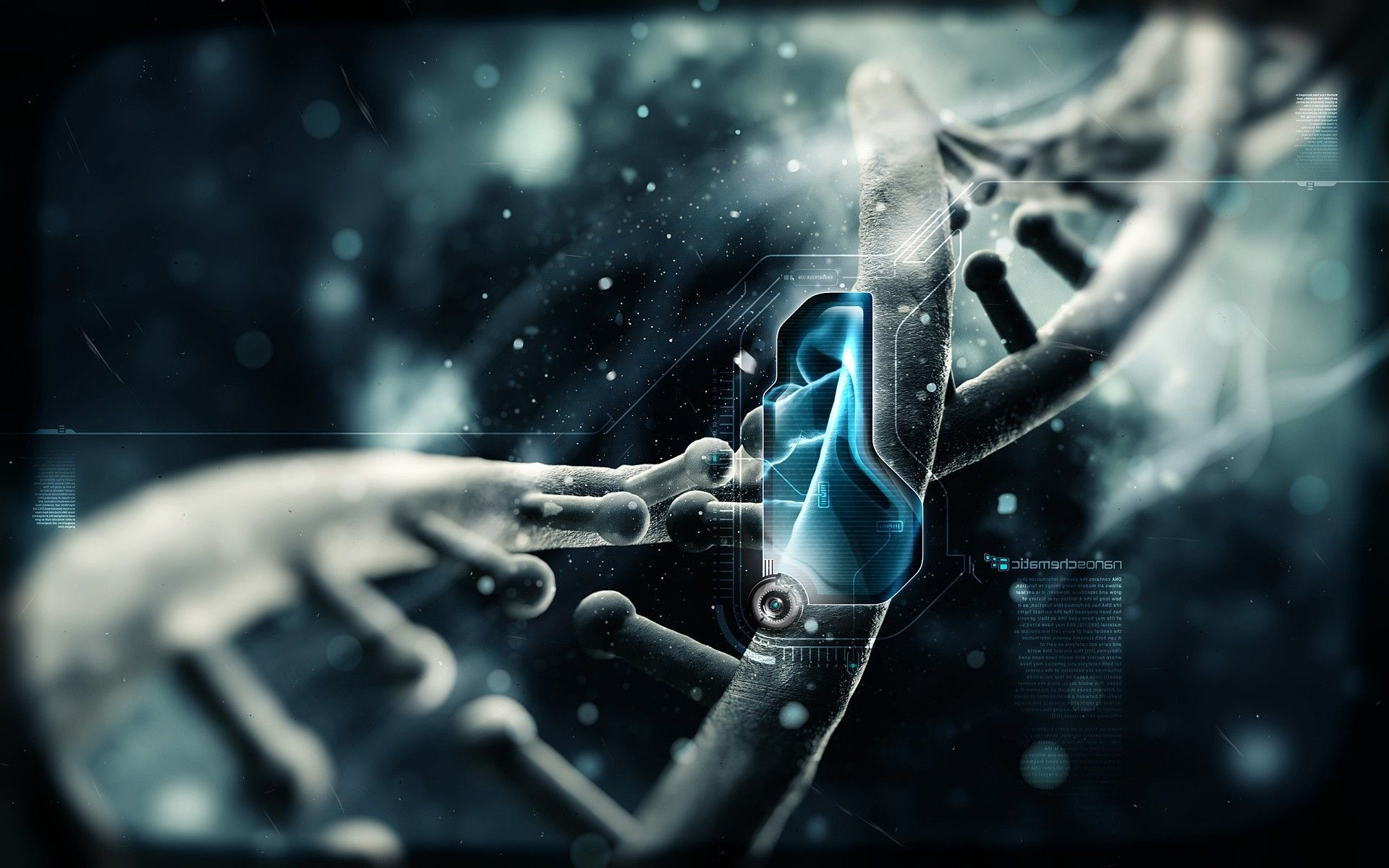 1920x1200 blue, Science Fiction, Anime, DNA, Science, Schematic, ...